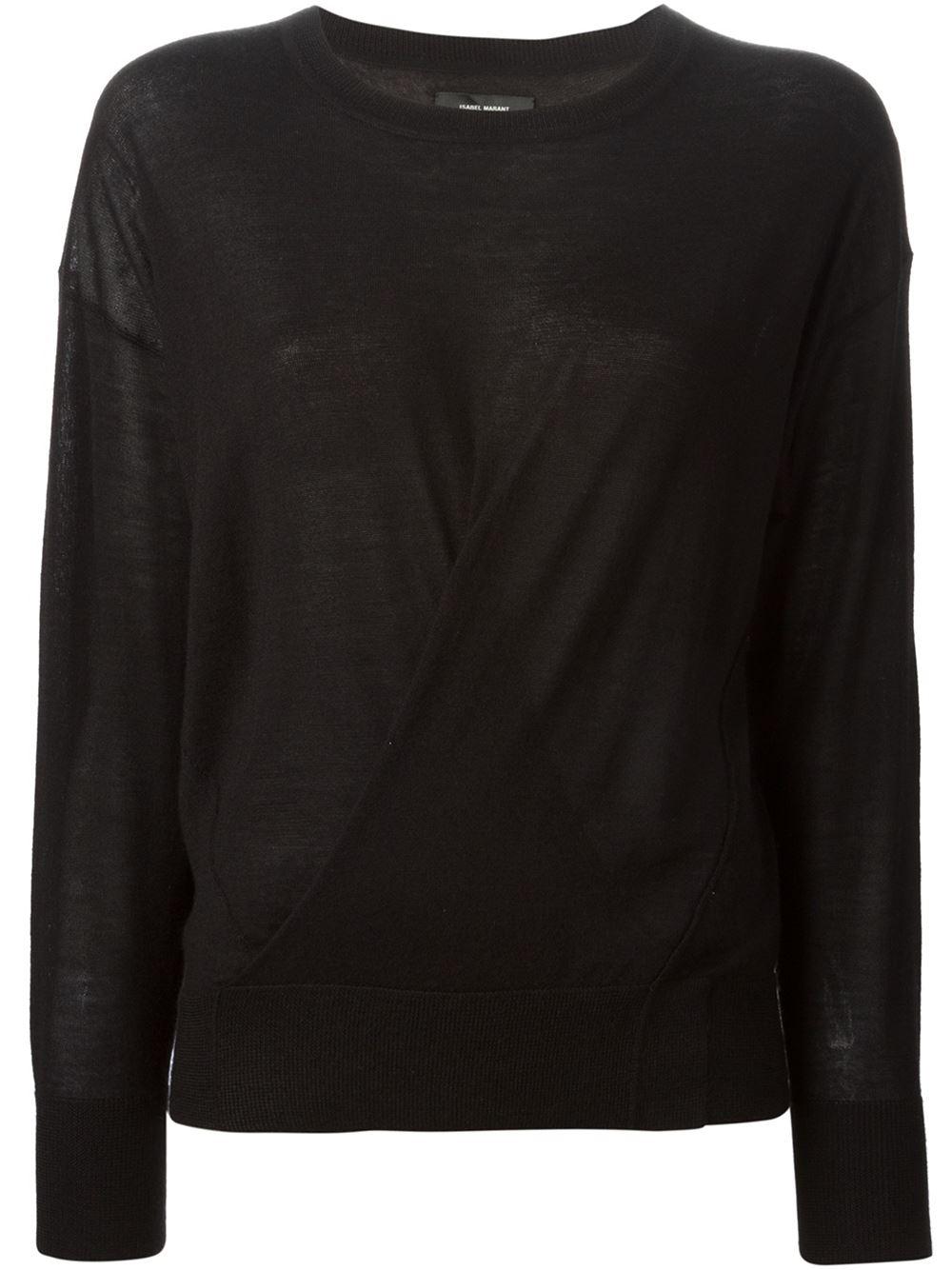 isabel marant 39 ben 39 sweater in black lyst. Black Bedroom Furniture Sets. Home Design Ideas