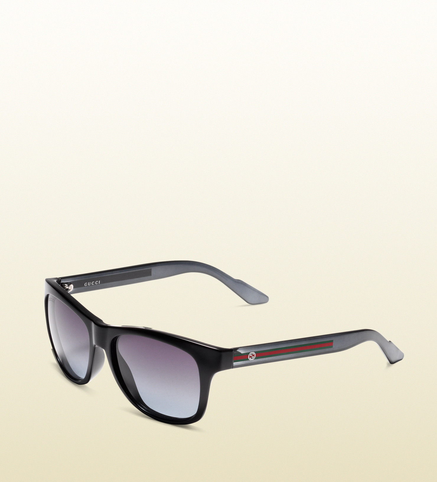 c006254791 Gucci Bio-based Rectangle Web Sunglasses in Black for Men - Lyst