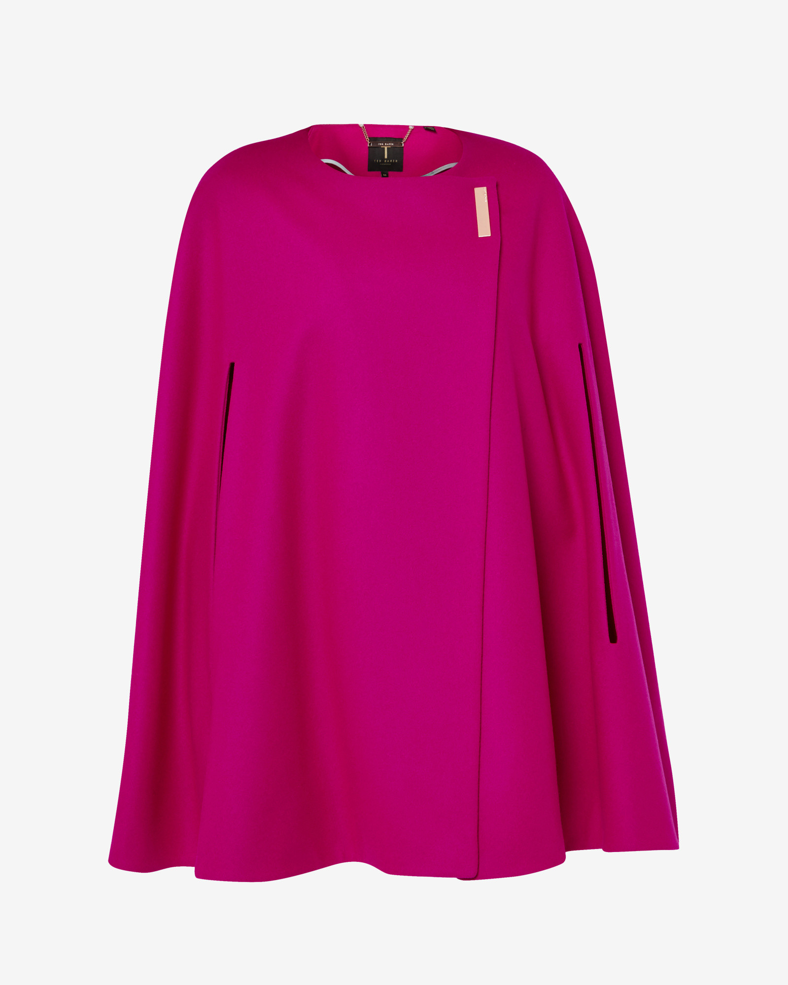 Lyst Ted Baker Minimalist Metal Clasp Cape In Pink