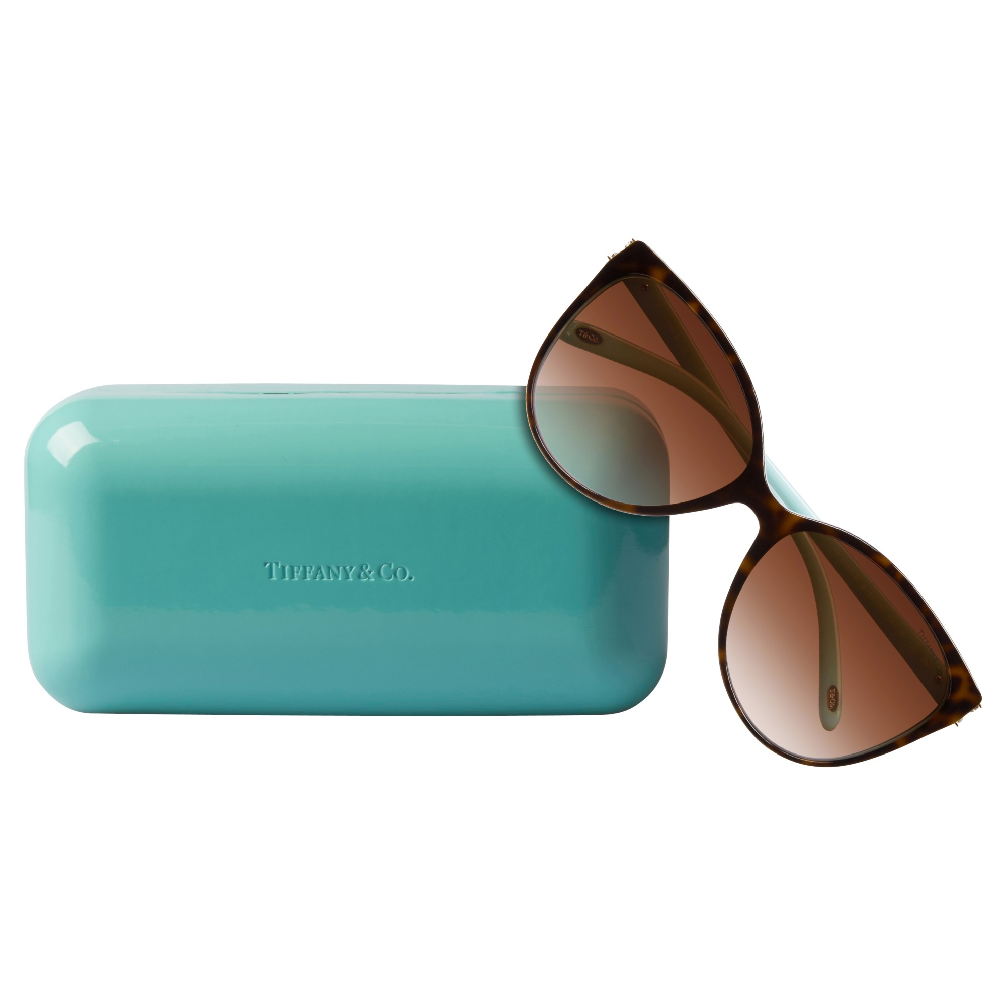Tiffany & Co. Tf4089b Cat's Eye Sunglasses in Brown