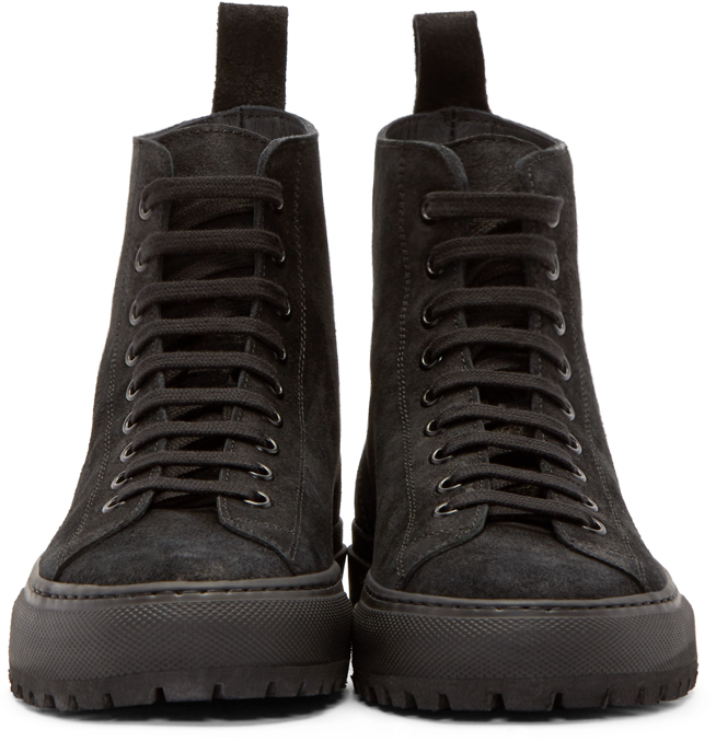 bf372d11b2fc Lyst - Common Projects Tournament Suede High-Top Sneakers in Black