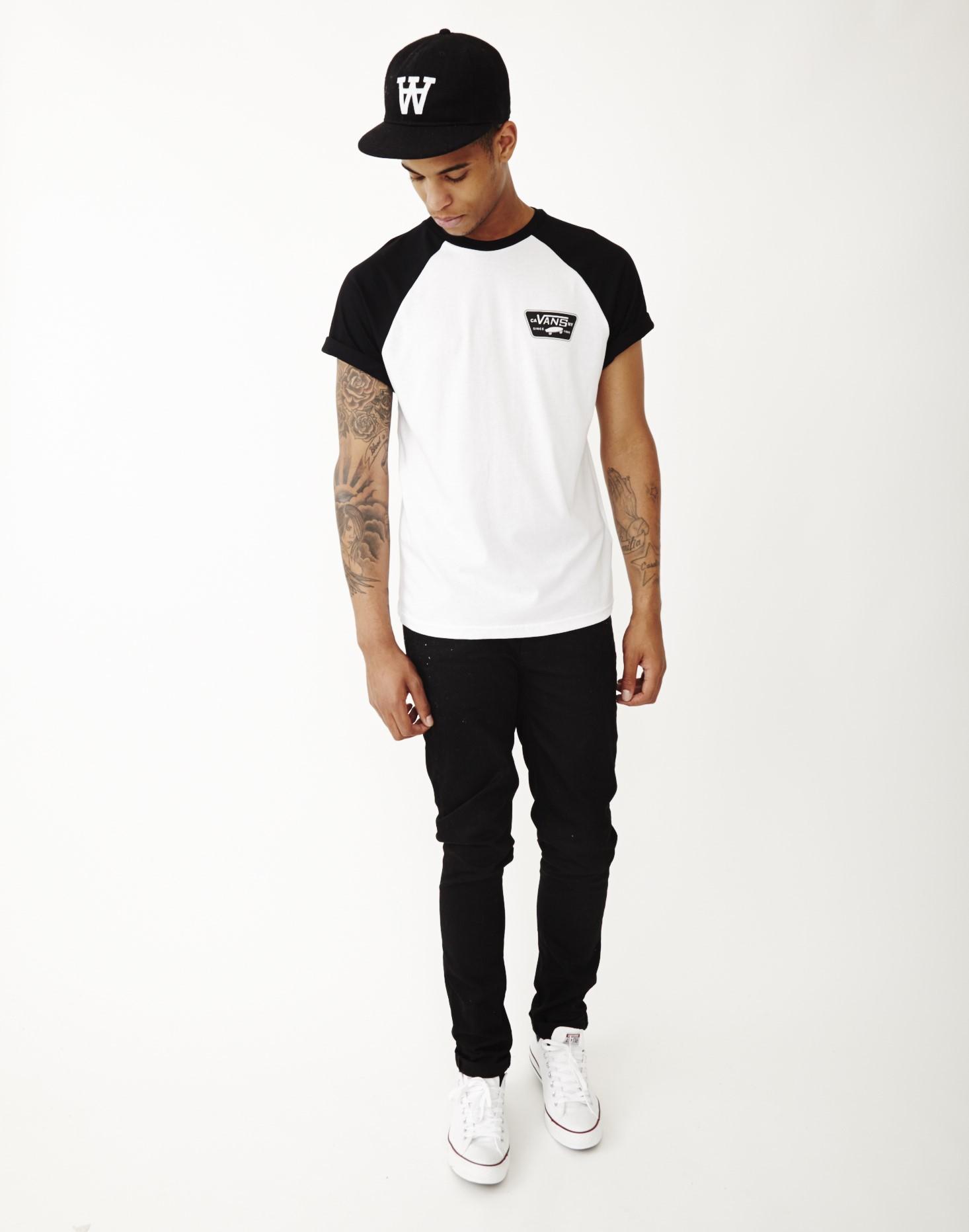 e8c8c03c20 Vans Full Patch Short Sleeve Raglan T-shirt White in White for Men ...