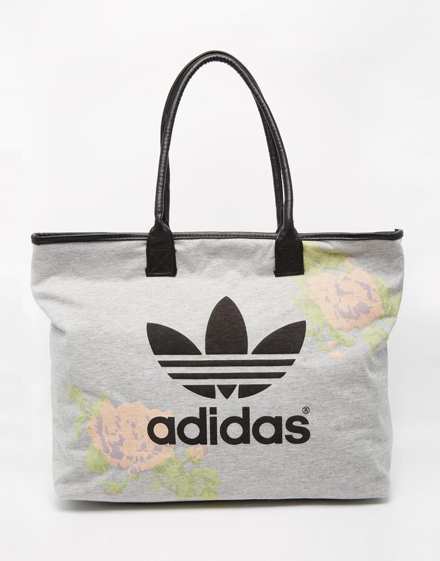 adidas originals pastel rose beach shopper bag in multicolor lyst. Black Bedroom Furniture Sets. Home Design Ideas