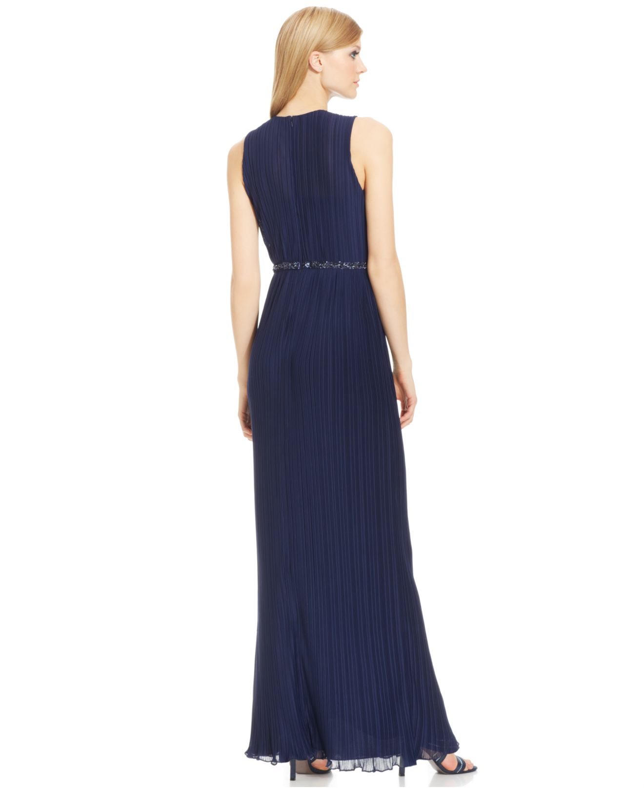 Js Boutique Gown With Beaded Waist Womens Gown And Dresses