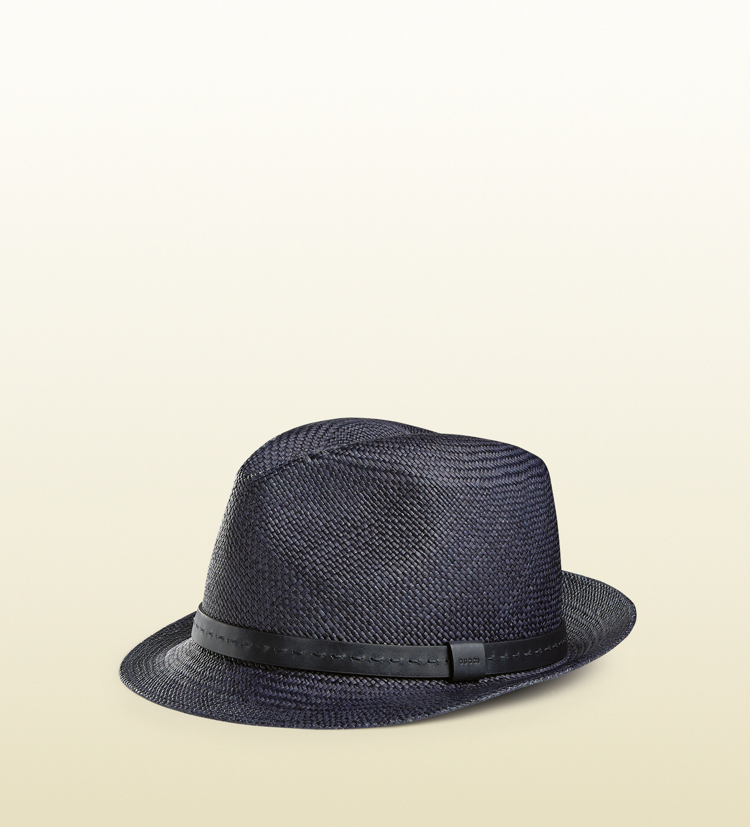 4ba4dcb55c0 Lyst - Gucci Straw Fedora With Leather Band in Blue for Men