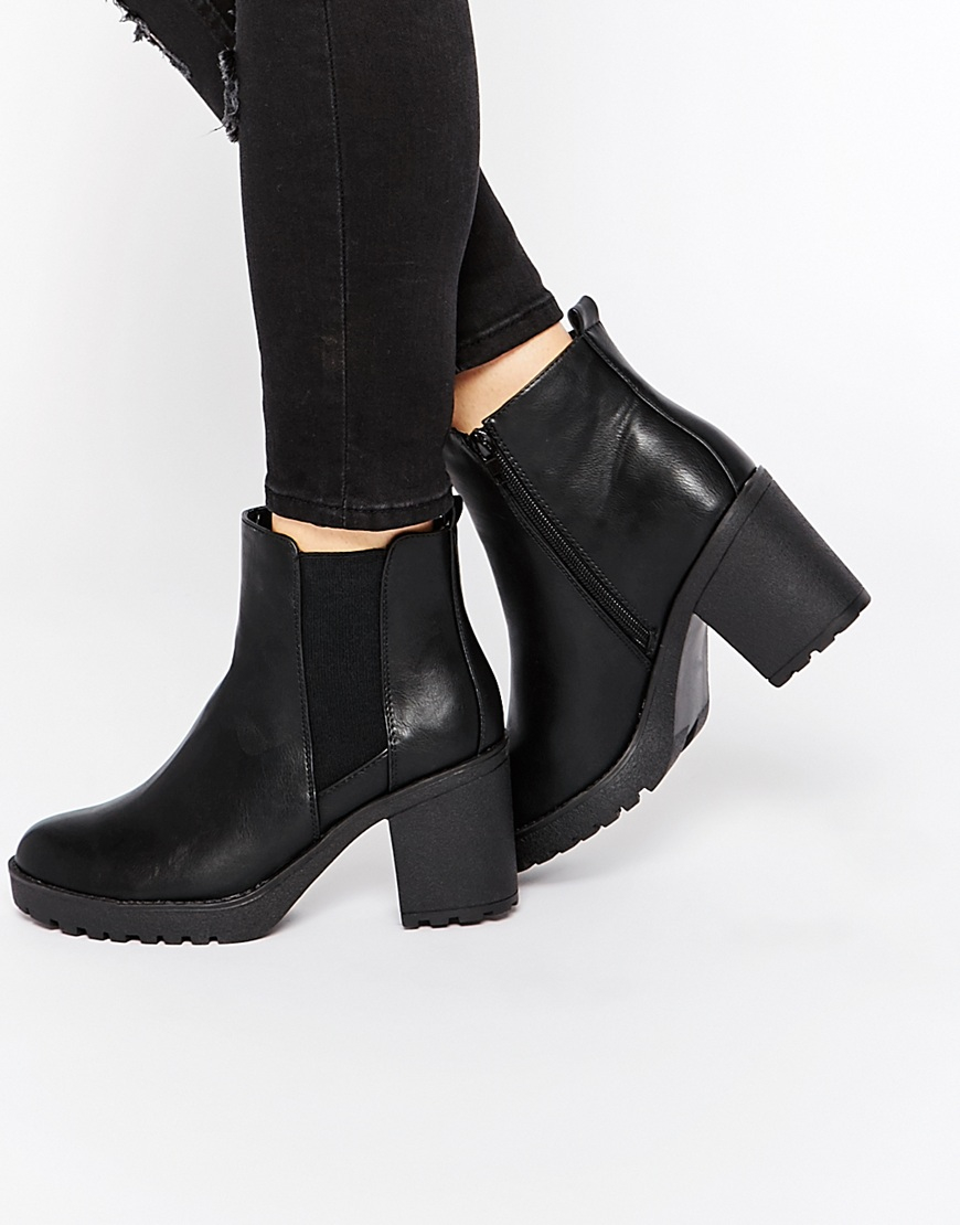 Oasis Heeled Ankle Boots in Black | Lyst