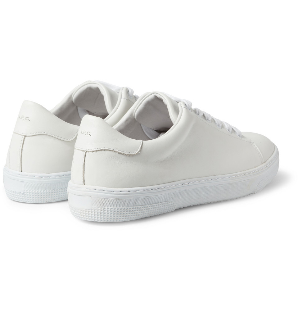 Lyst A P C Leather Low Top Sneakers In White For Men