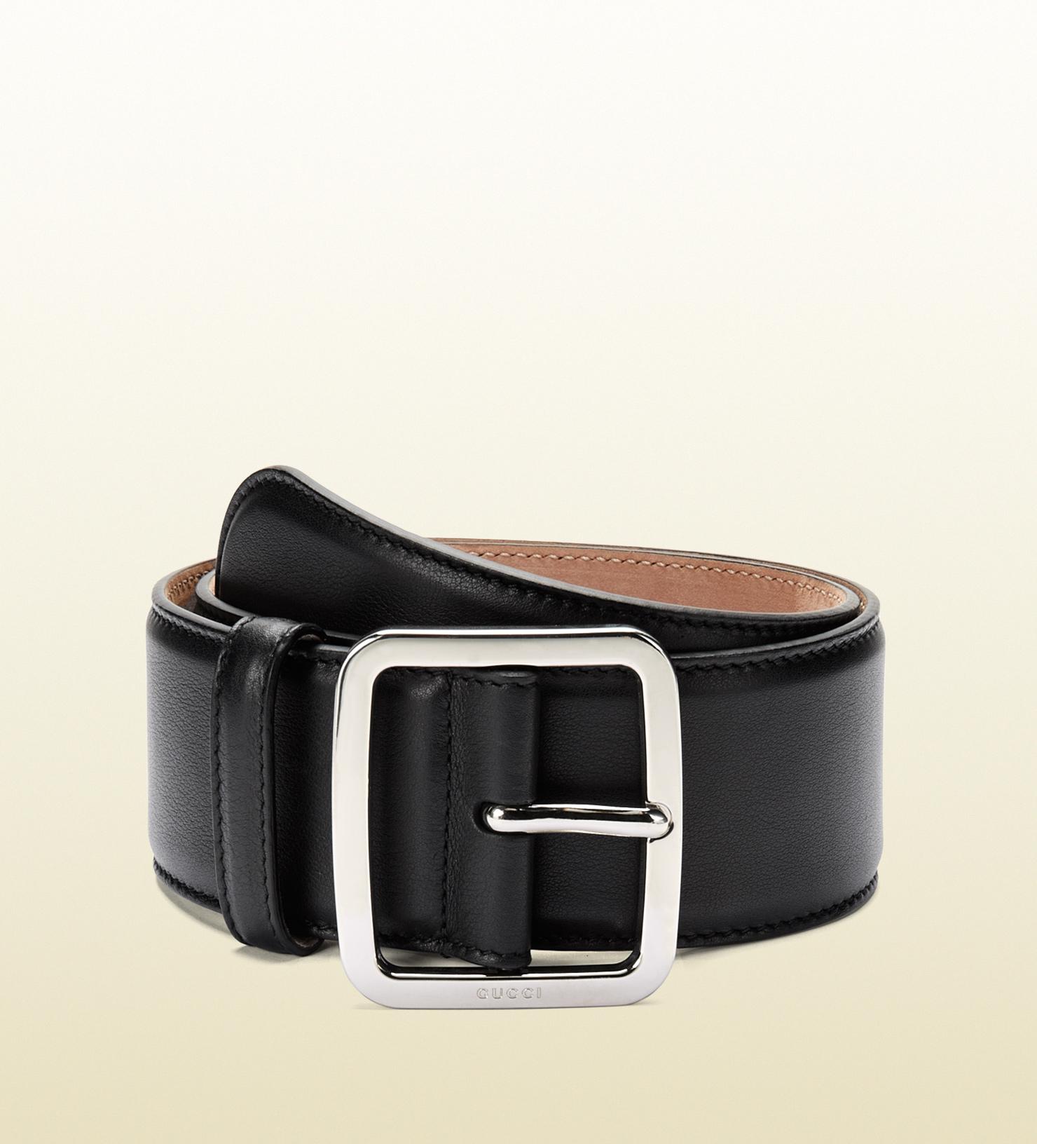 Gucci Black Leather Belt in Black for Men | Lyst