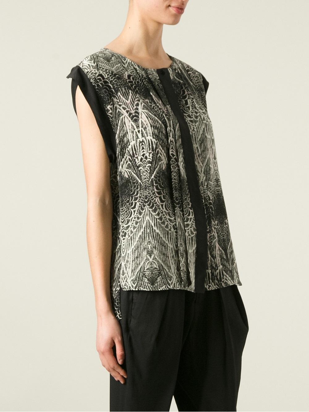 lyst day birger et mikkelsen pinion blouse in black. Black Bedroom Furniture Sets. Home Design Ideas