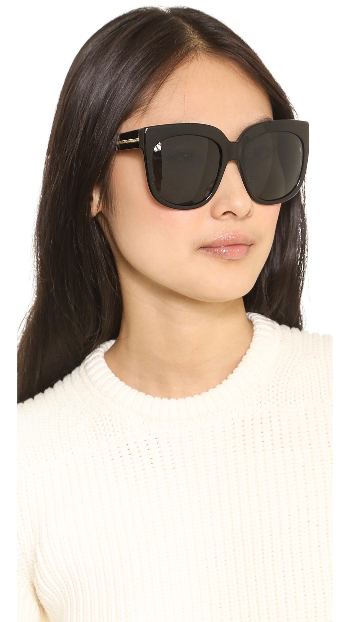 1e93a6f4b8c Lyst - Stella McCartney Oversized Sunglasses - Nude Brown in Black