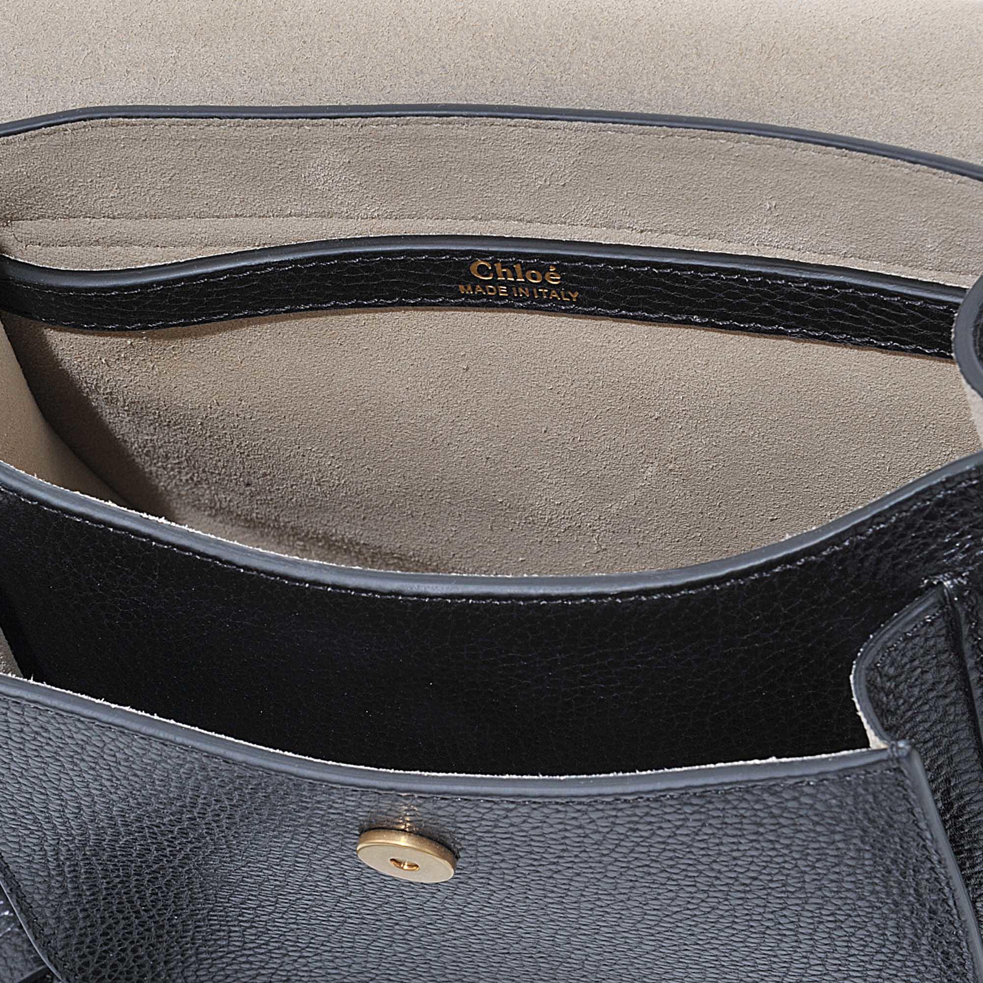 chloe hudson small whipstitched suede shoulder bag