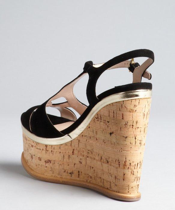 ugg cork wedge suede sandals