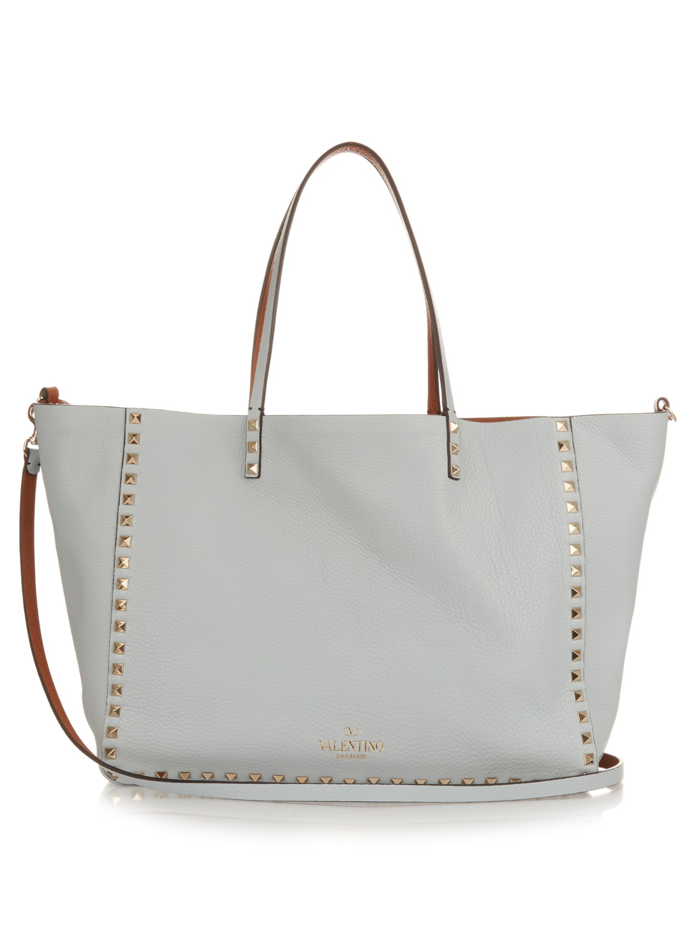 1370cd8fc Valentino Rockstud Double Reversible Medium Tote in Blue - Lyst