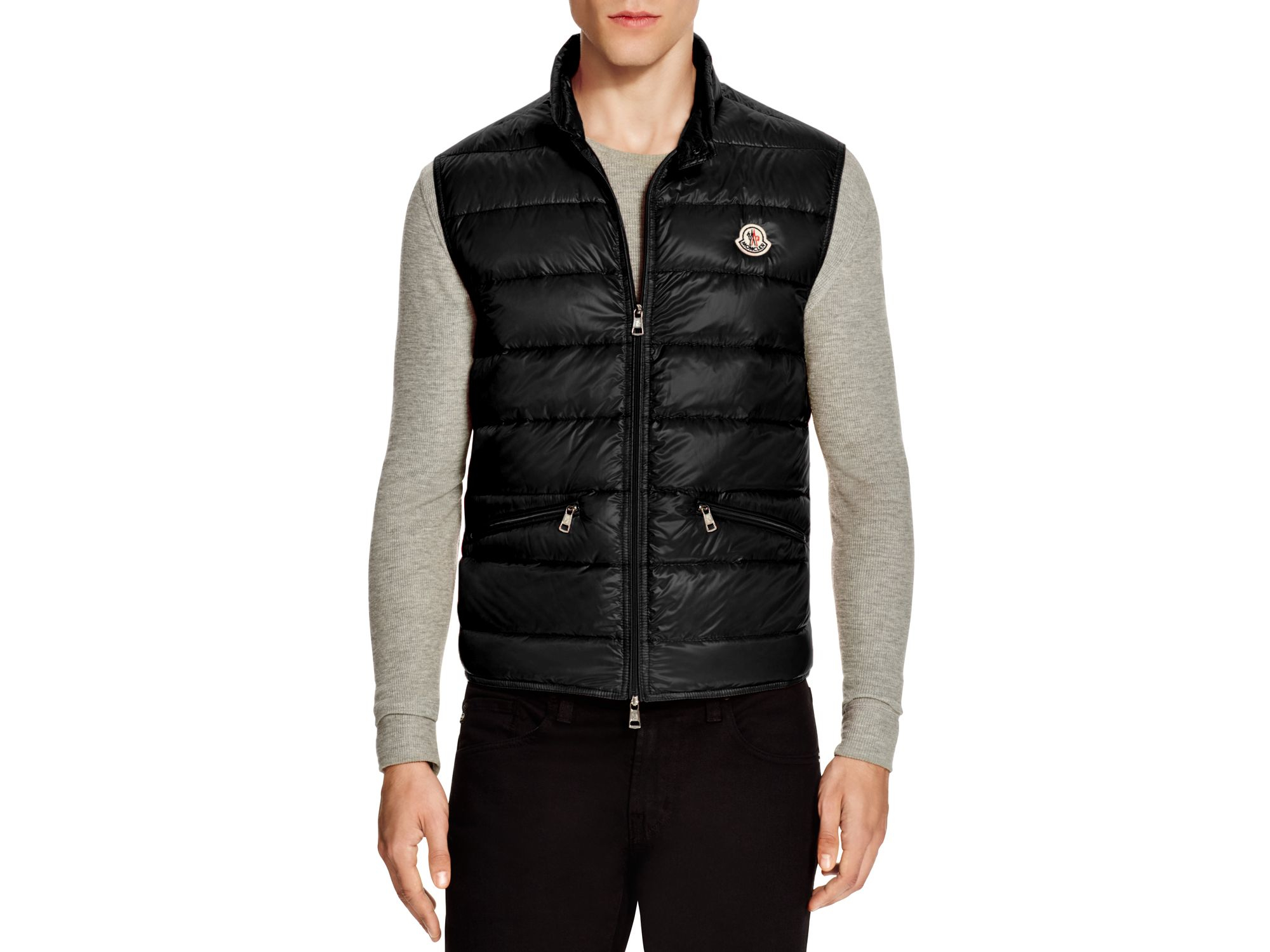 31f52eb2e Moncler Black Gui Lightweight Quilted Puffer Vest for men