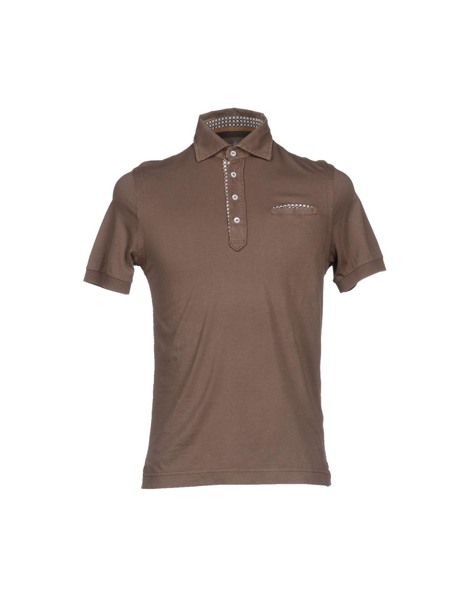 Della Ciana Polo Shirt In Brown For Men Cocoa Lyst