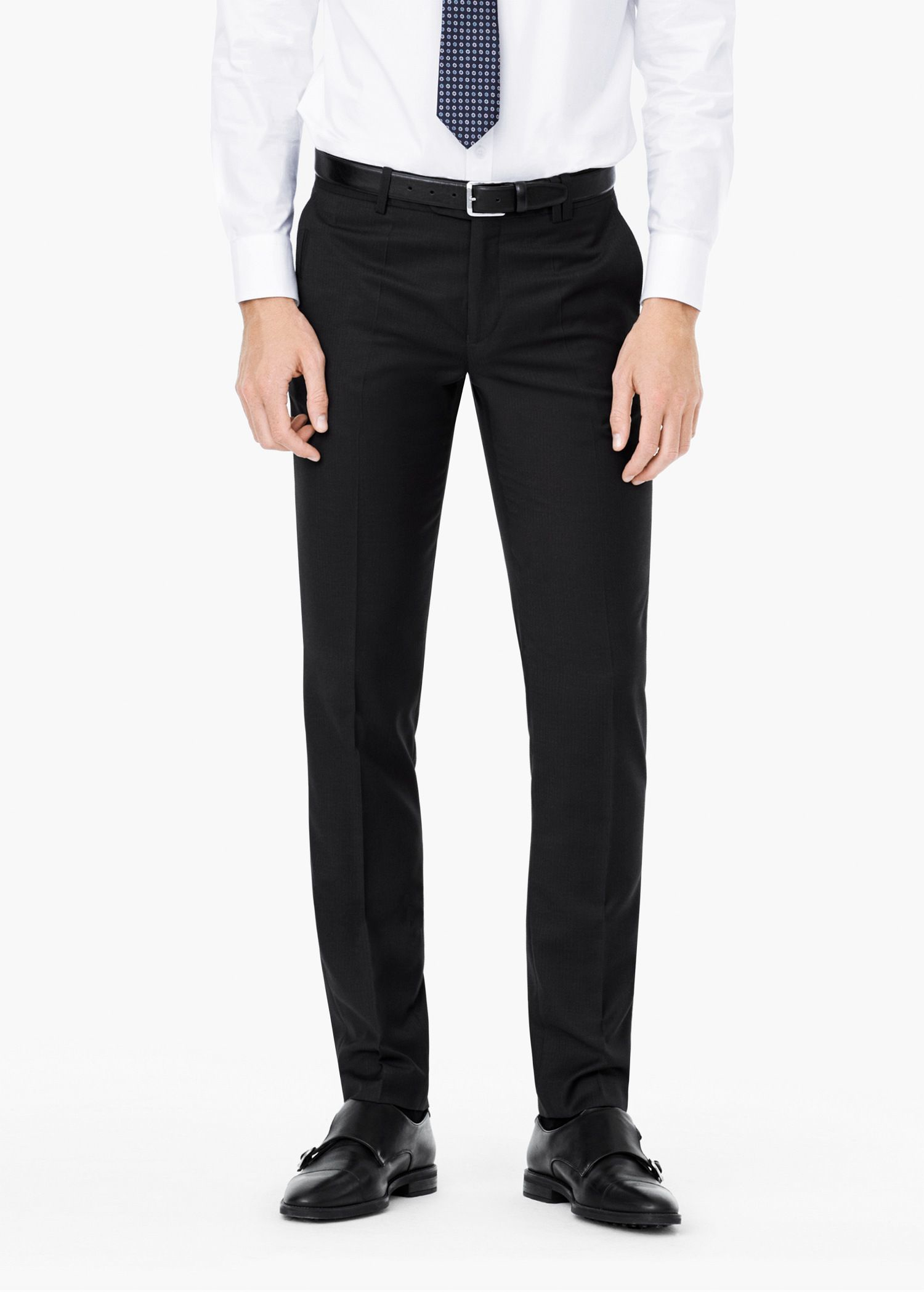 Mango Striped Suit Trousers in Charcoal (Grey) for Men
