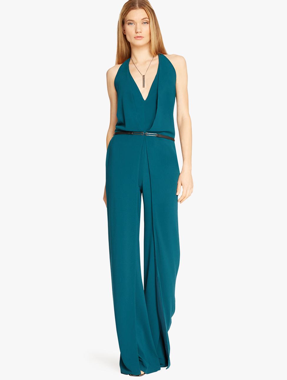 c6aa2b32904 Women s Blue Denim Flare Jumpsuit - Ecosia