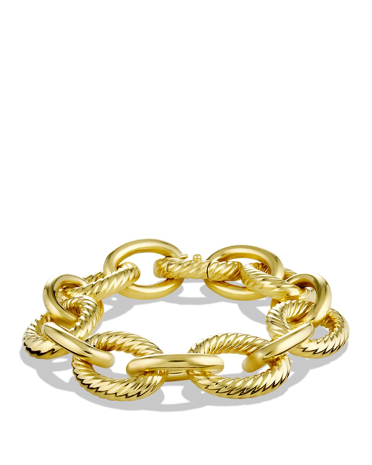 david yurman large oval link bracelet in yellow lyst