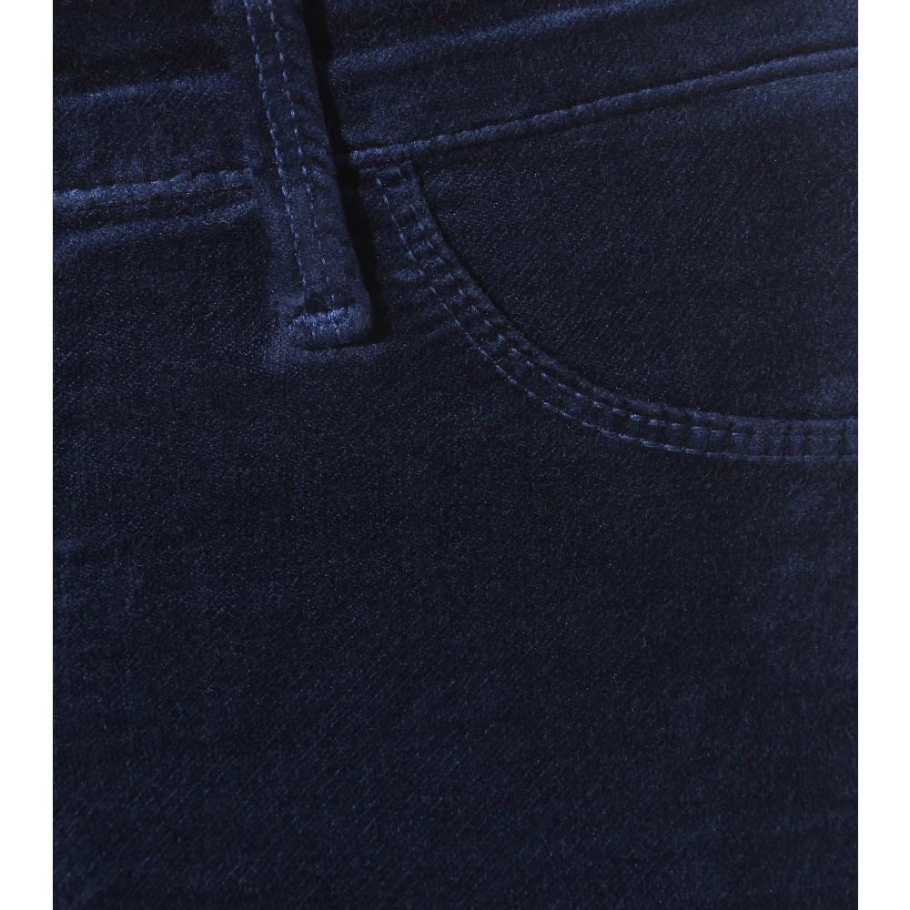 J Brand Mid-Rise Super-Skinny Velvet Jeans in Blue