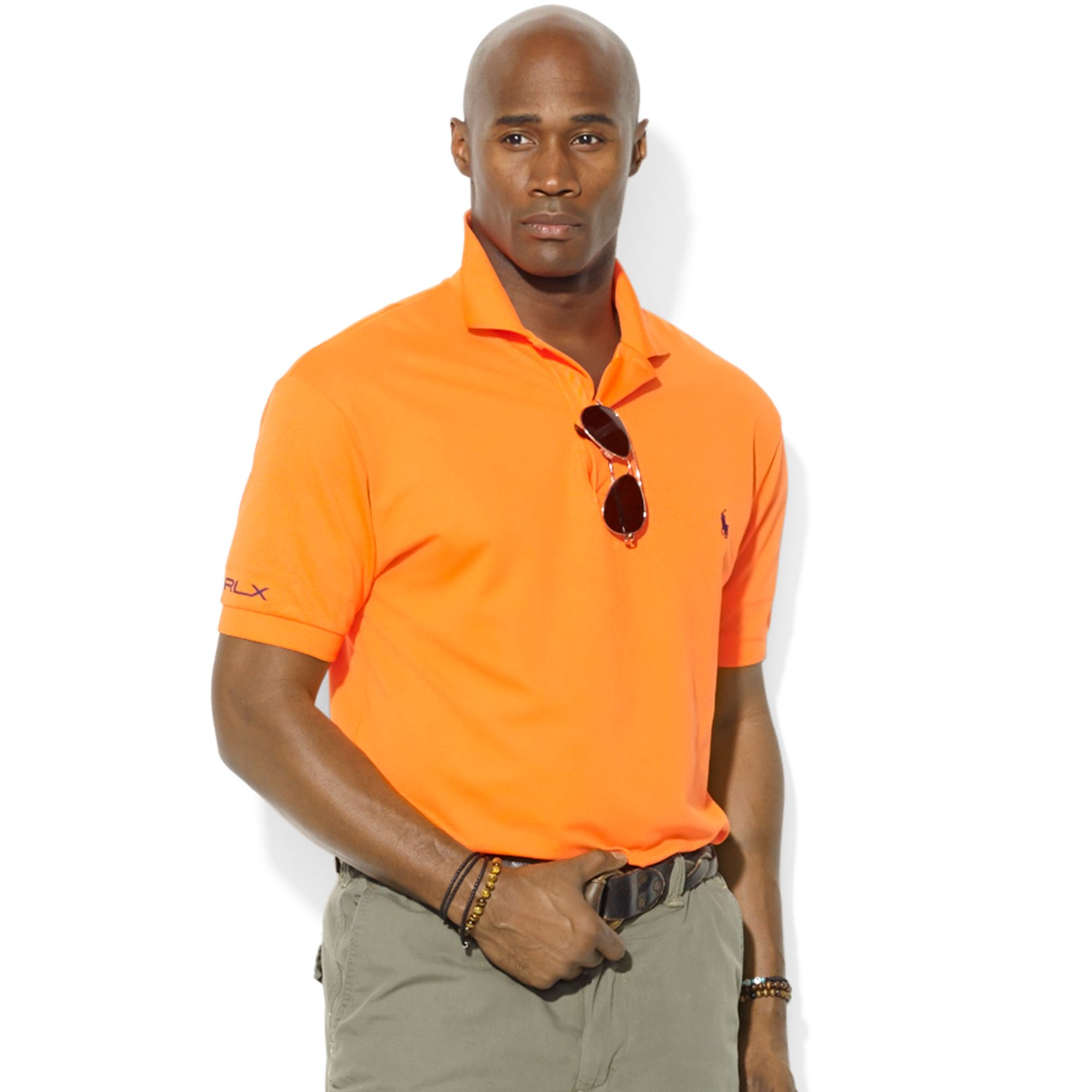 Tall Lauren Ralph Orange Big Shirt Polo For Rlx Men Performance And OXkZTPui