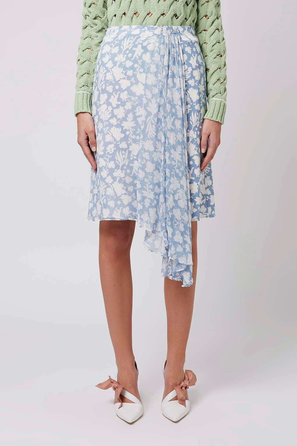 topshop belfour skirt by unique in blue lyst