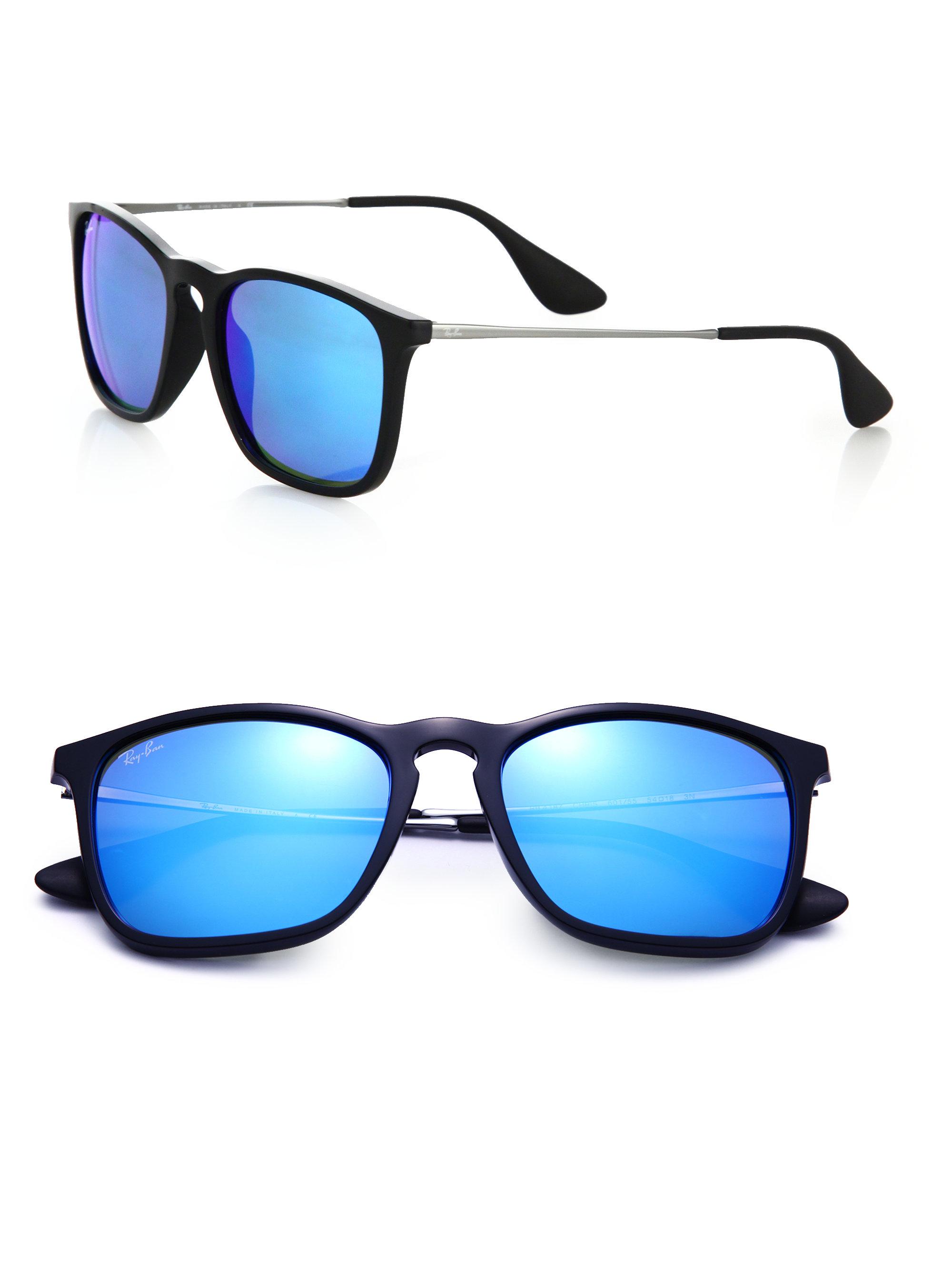 ray ban sunglasses blue white