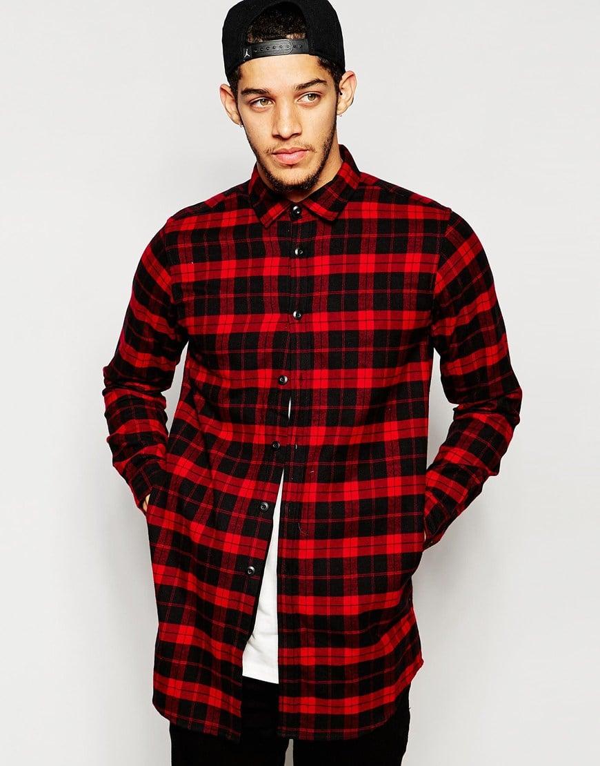 longline flannel shirt