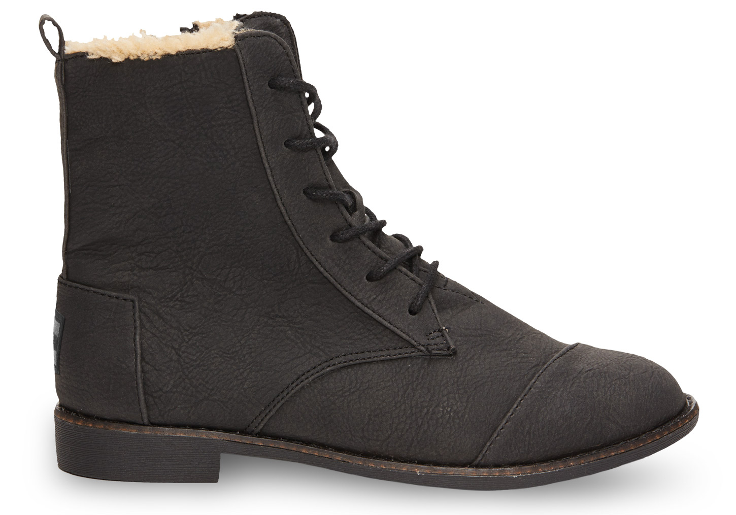 toms black synthetic leather s alpa boots in black