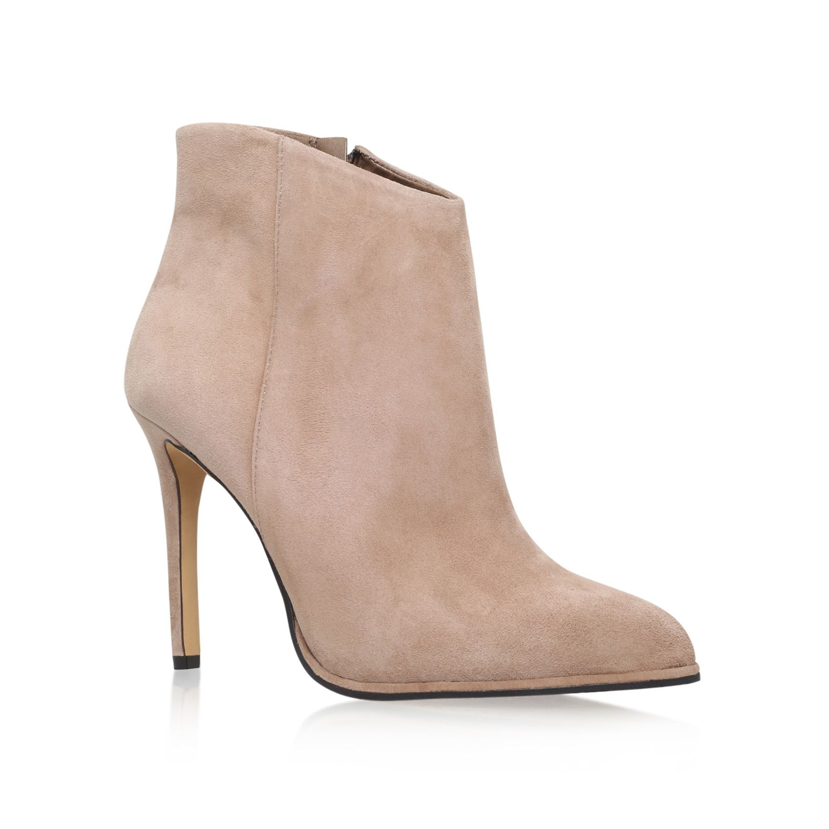 vince camuto lorenza high heel ankle boots in pink lyst