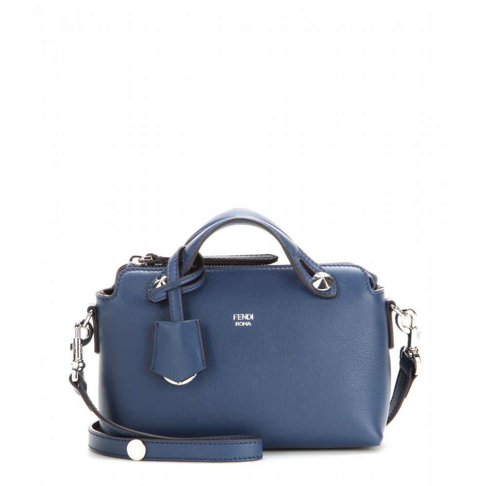 fendi by the way mini leather shoulder bag in blue lyst