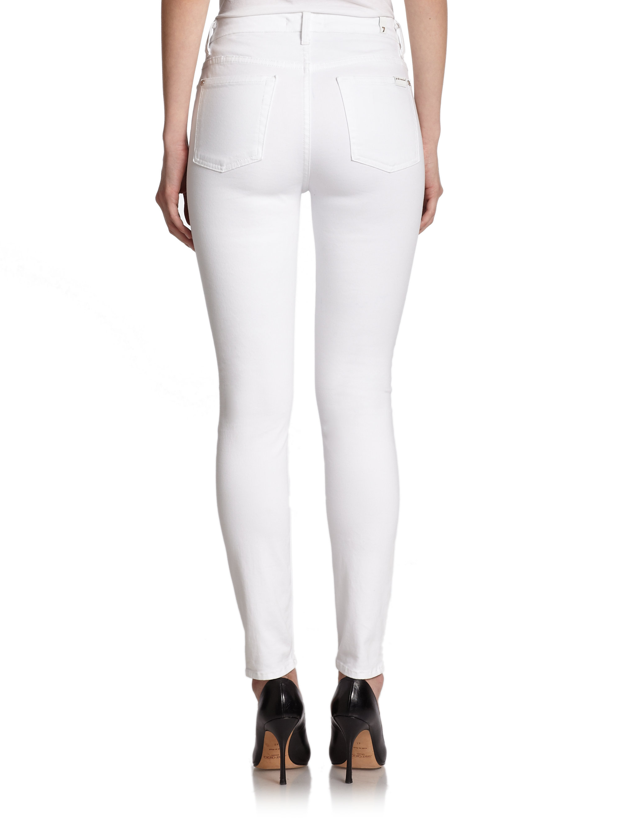 All White High Waisted Jeans - Is Jeans
