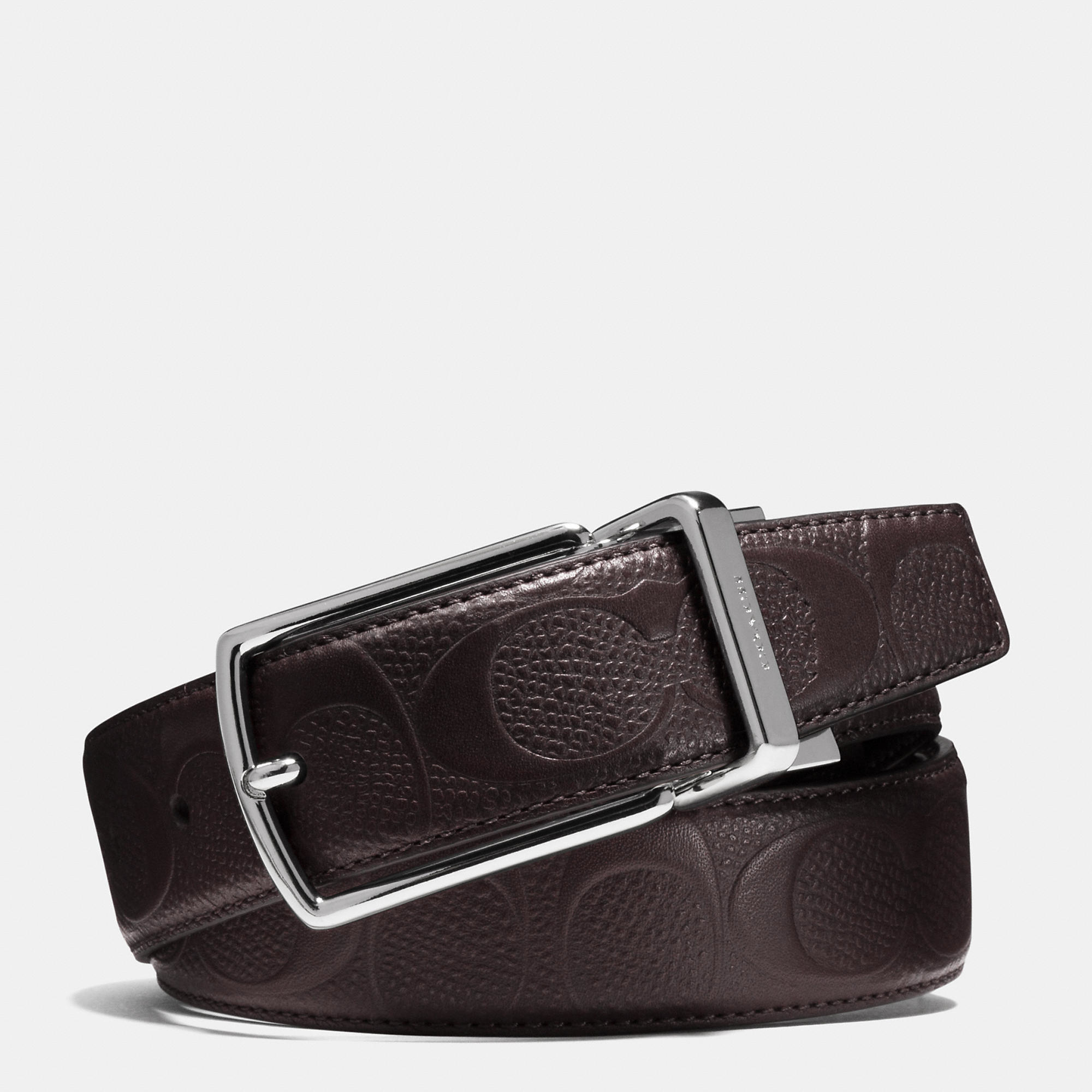 d0f71f04c0c5 Lyst - COACH Modern Harness Cut-to-size Reversible Signature ...