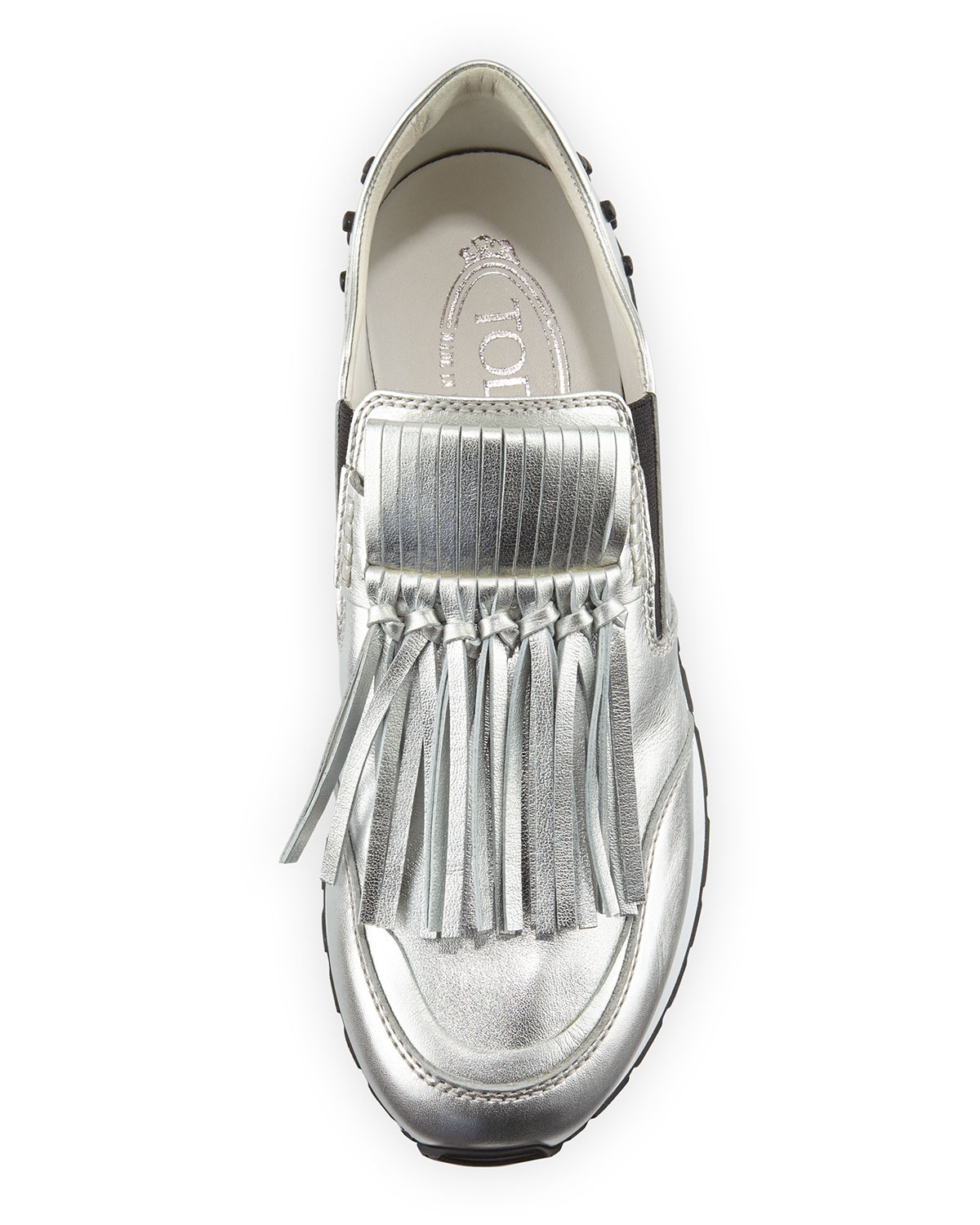 Silver sneakers with tassels Tod's mwwIRvKdrx
