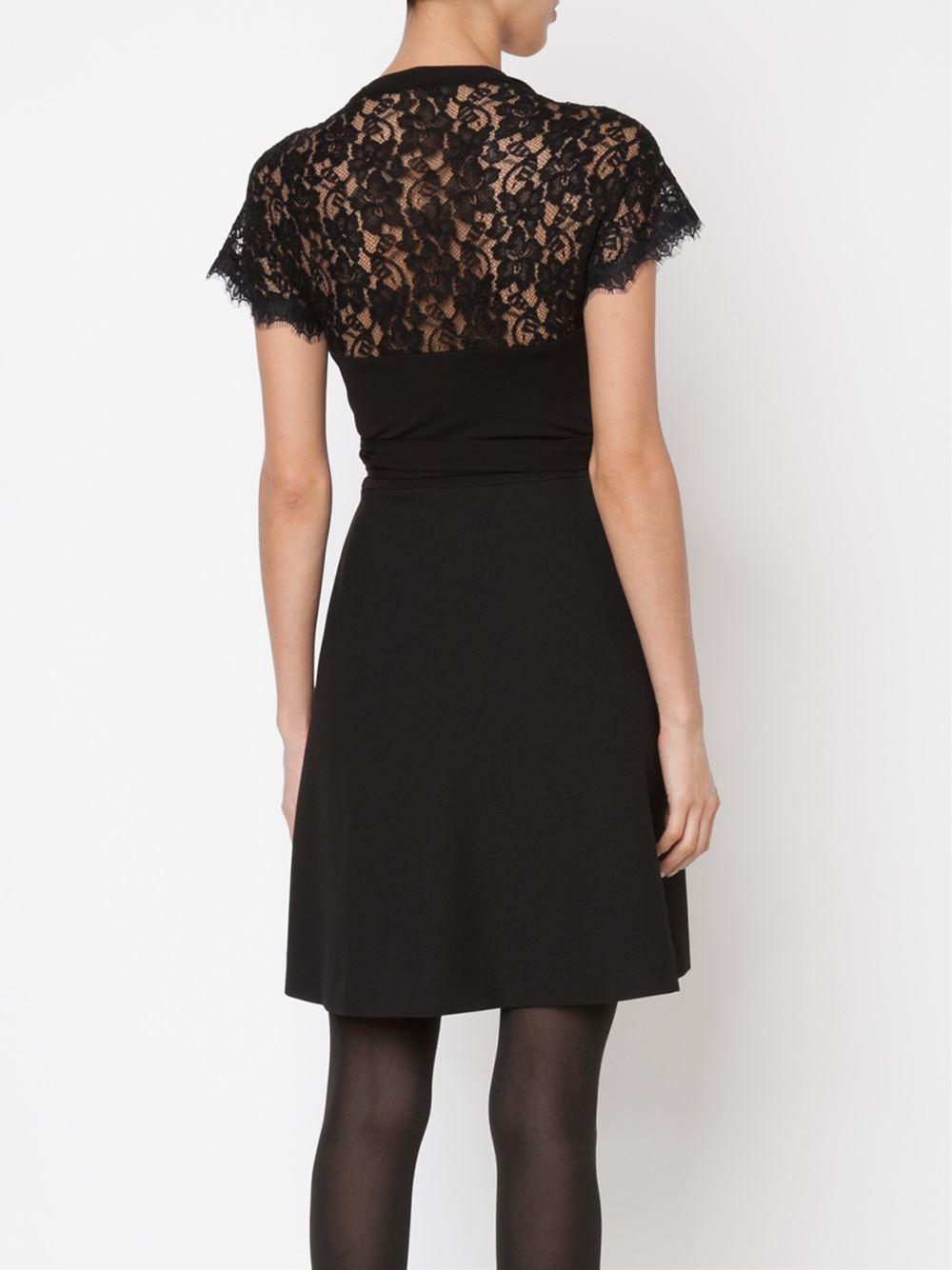 Lyst Diane Von Furstenberg Elizabeth Wrap Dress In Black