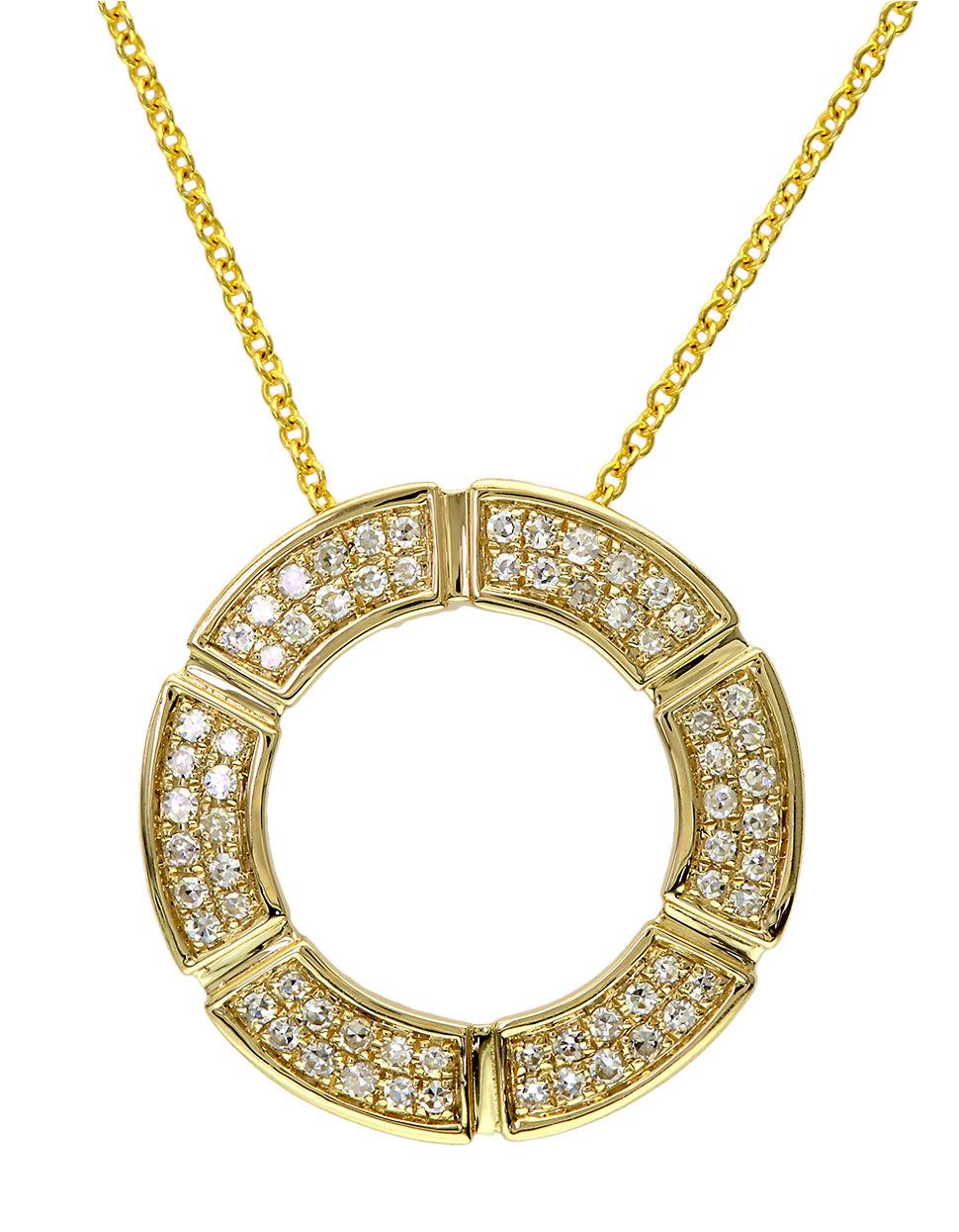 effy d oro 14k yellow gold open circle pendant