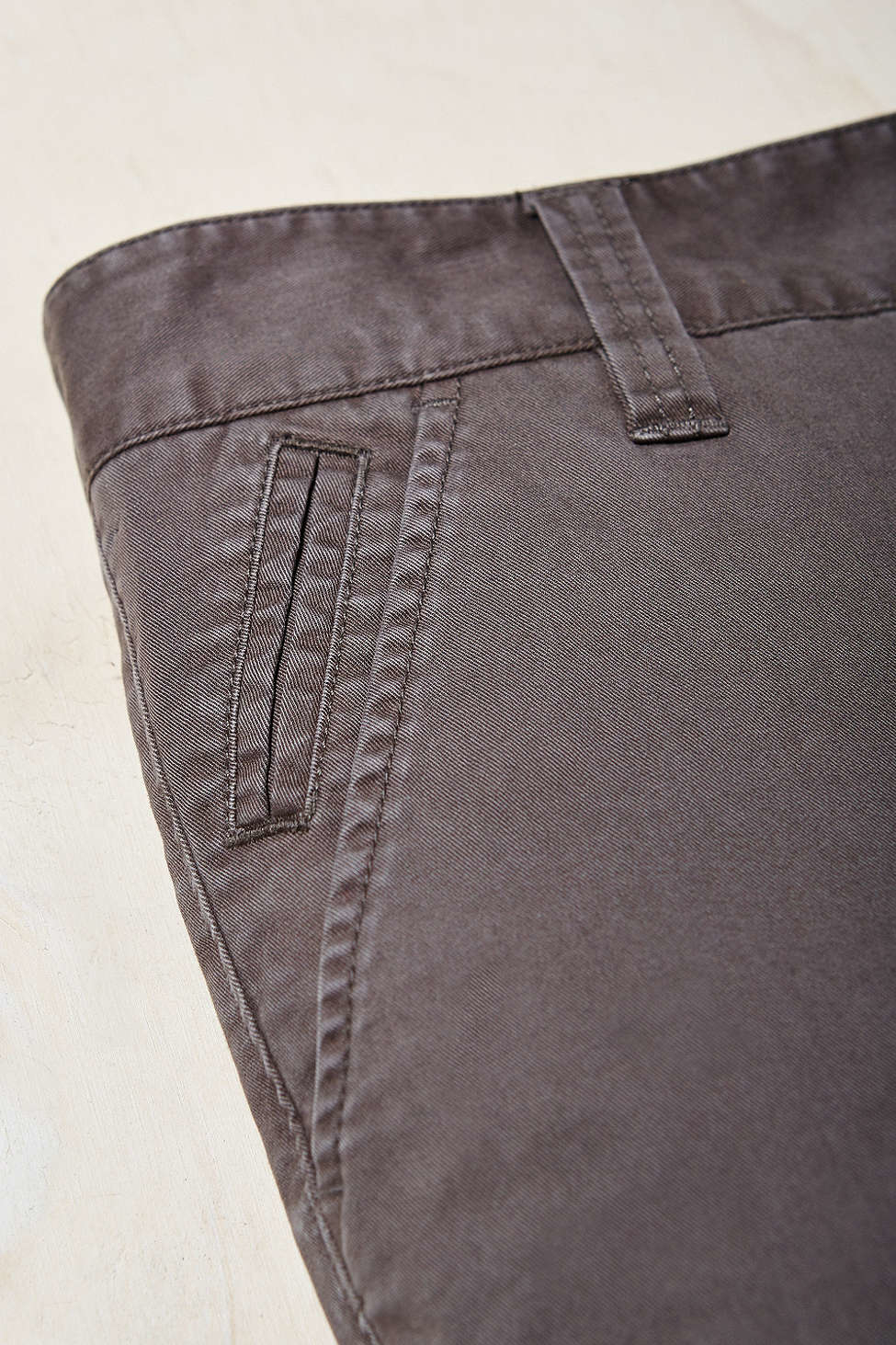 hawkings mcgill washed skinny stretch chino pant in black