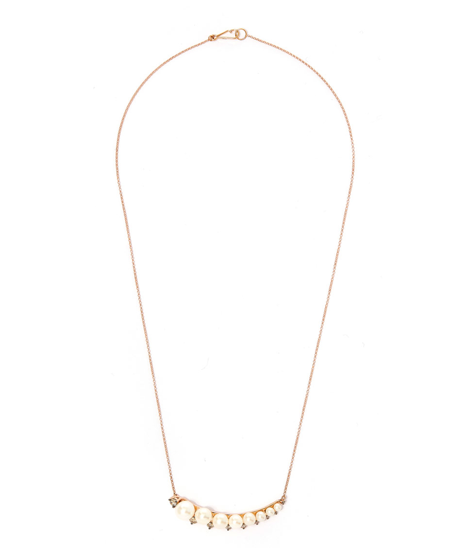 Annoushka Rose Gold Large Pearl Necklace in Pink