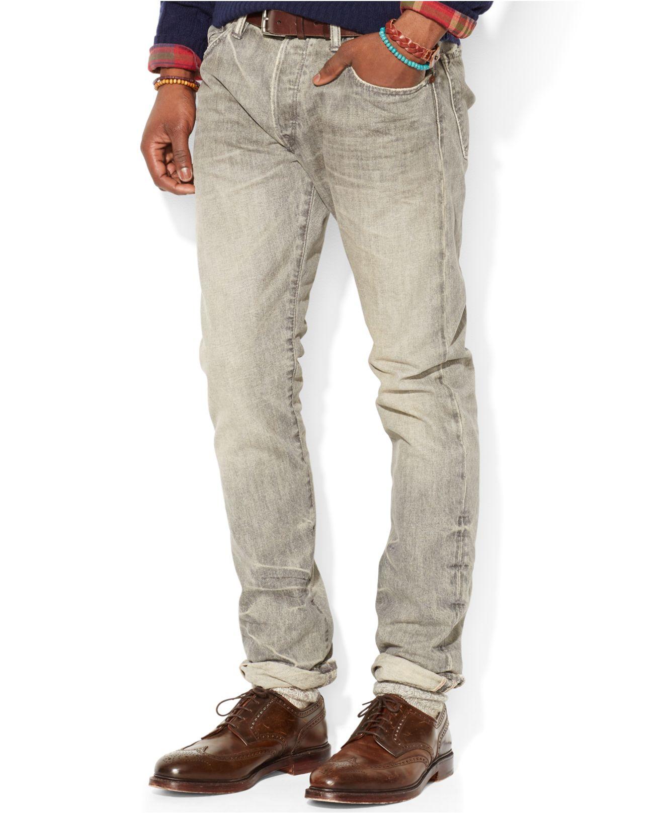 695b8f78 Polo Ralph Lauren Gray Slim-fit Varick Ash-grey Jeans for men