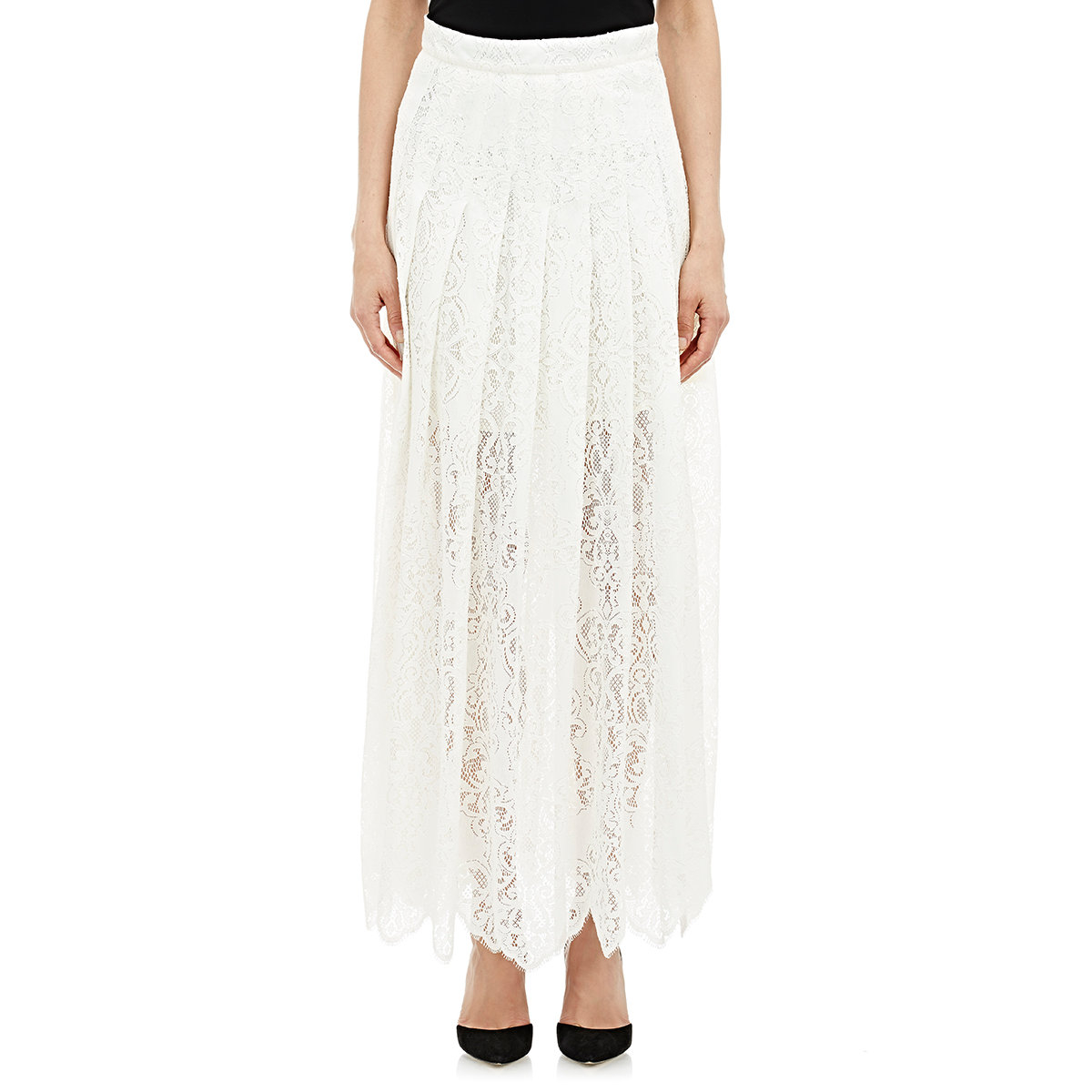 sea lace maxi skirt in white lyst
