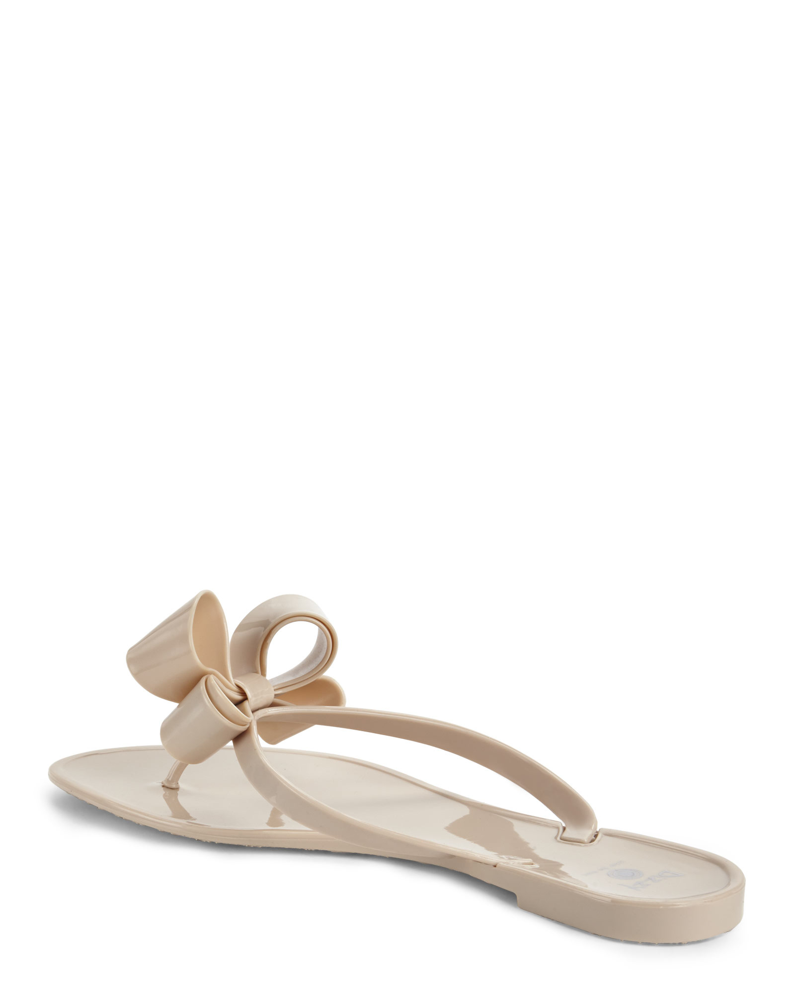 54e897d948e7 Lyst - Dizzy Bow Embellished Thong Sandals in Natural