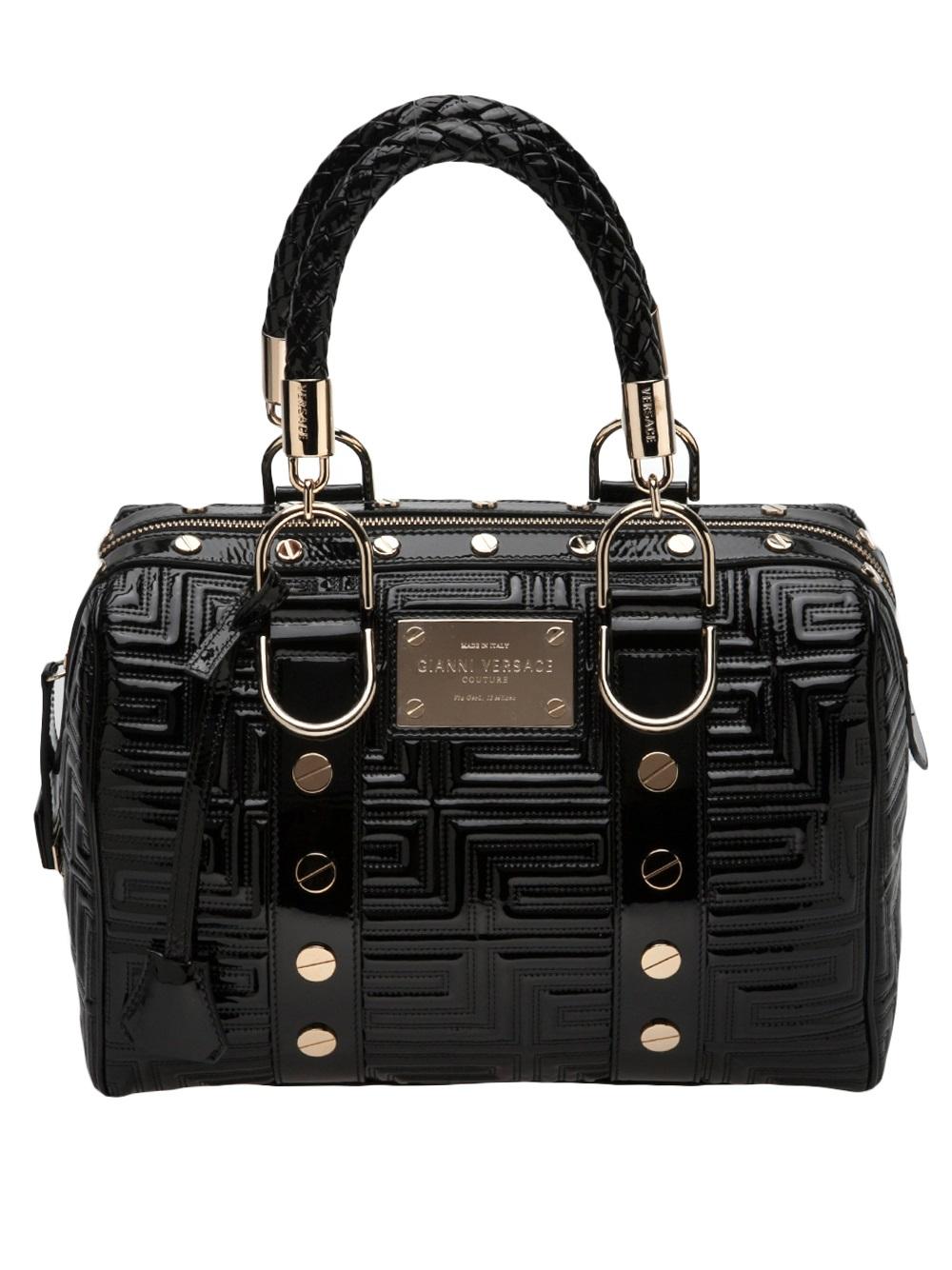 Versace Speedy Handbag In Black Lyst