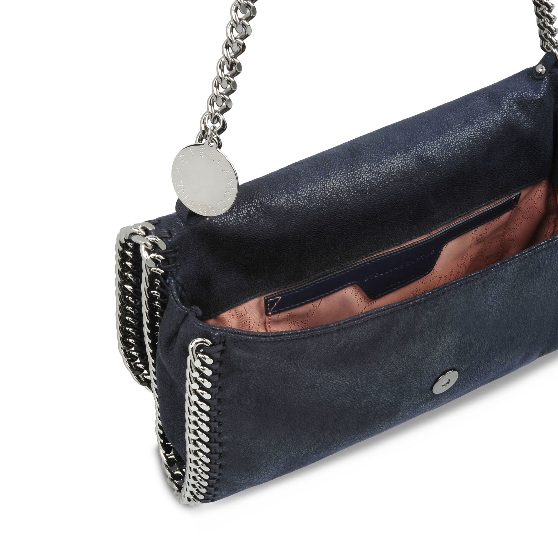 Stella McCartney Navy Falabella Shaggy Deer Shoulder Bag in Blue - Lyst f8738baa8f36c