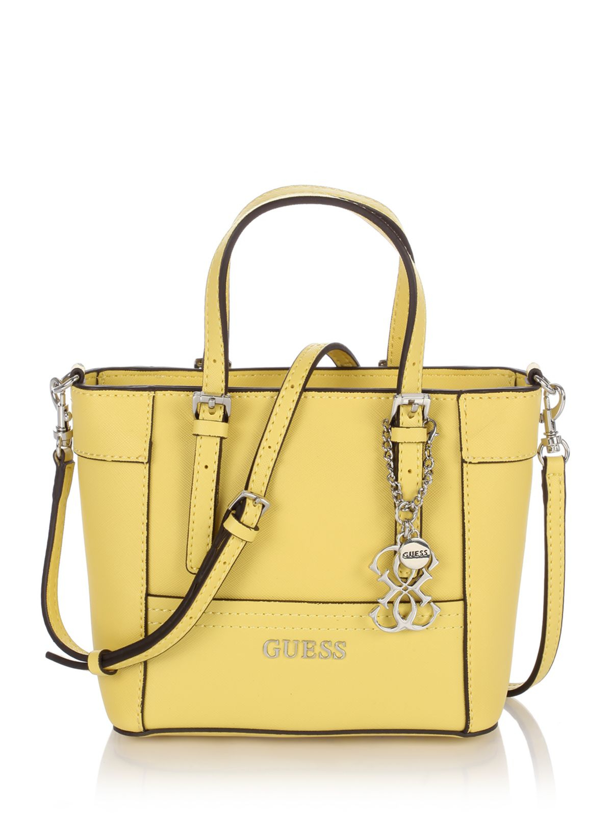 Guess Delaney Petite Tote In Yellow Lyst