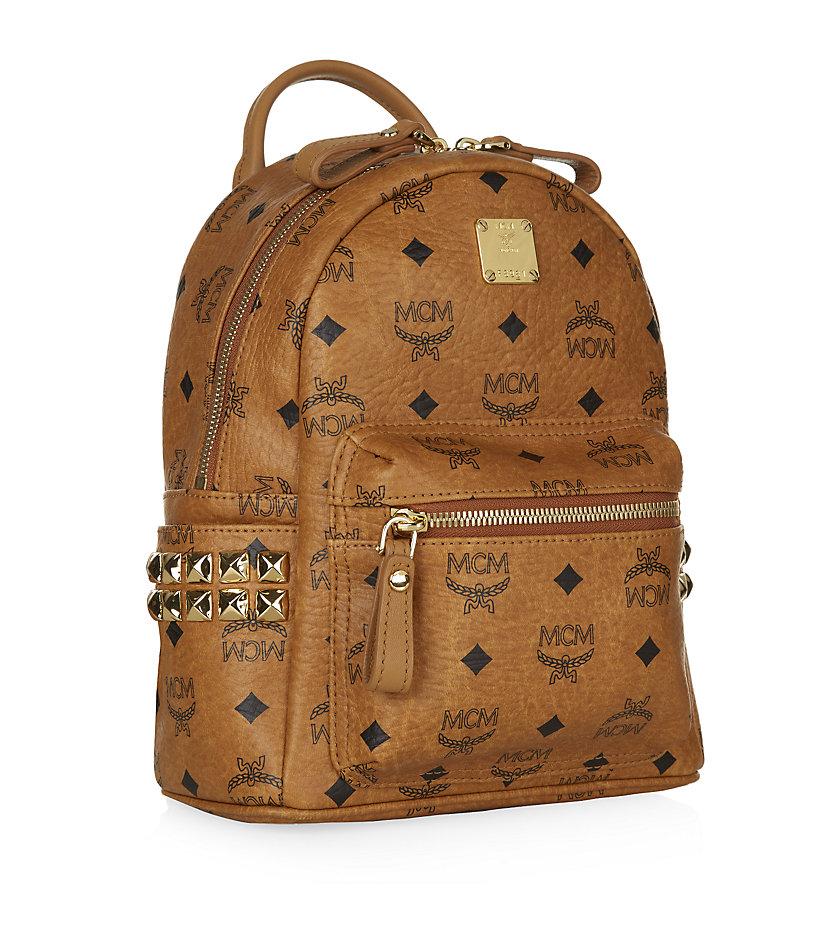 MCM Canvas 'stark' Backpack in Cognac (Brown) - Lyst