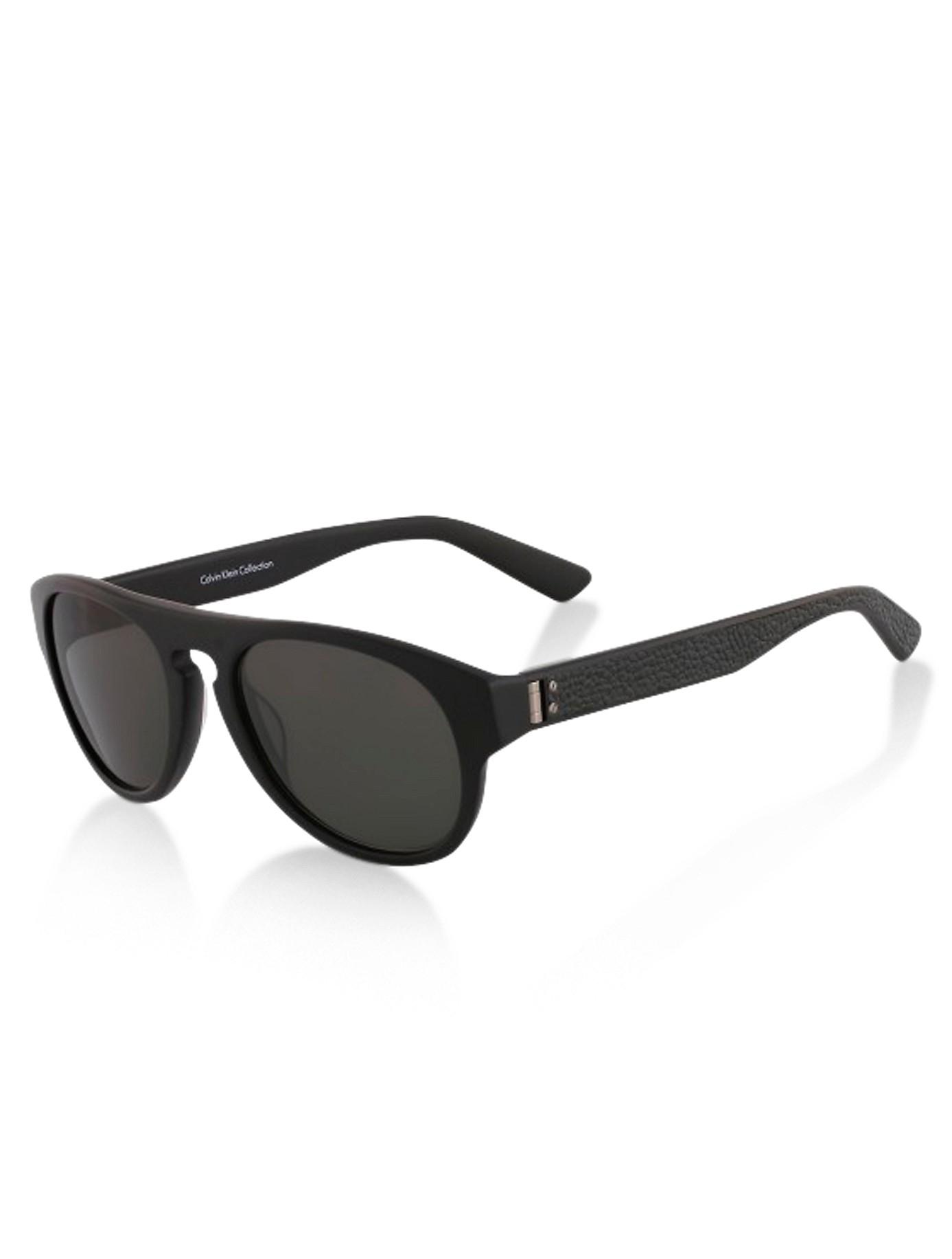 Calvin klein Collection Wayfarer-Inspired Sunglasses in Black | Lyst