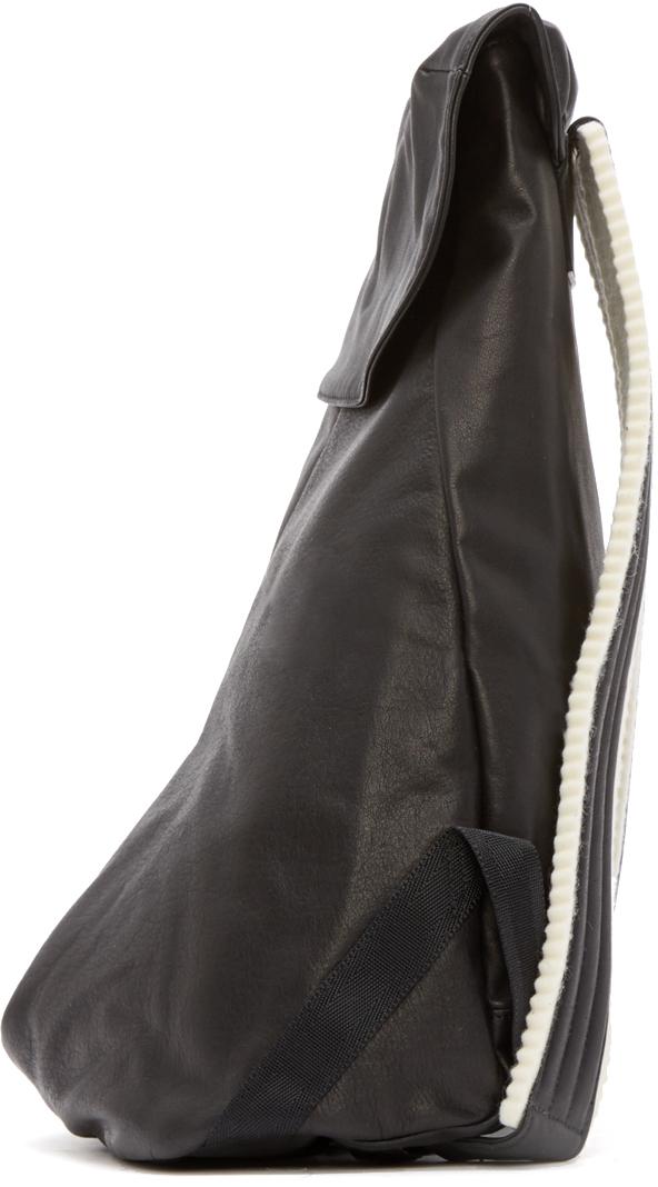 Yohji Yamamoto Black Leather Day Backpack for Men