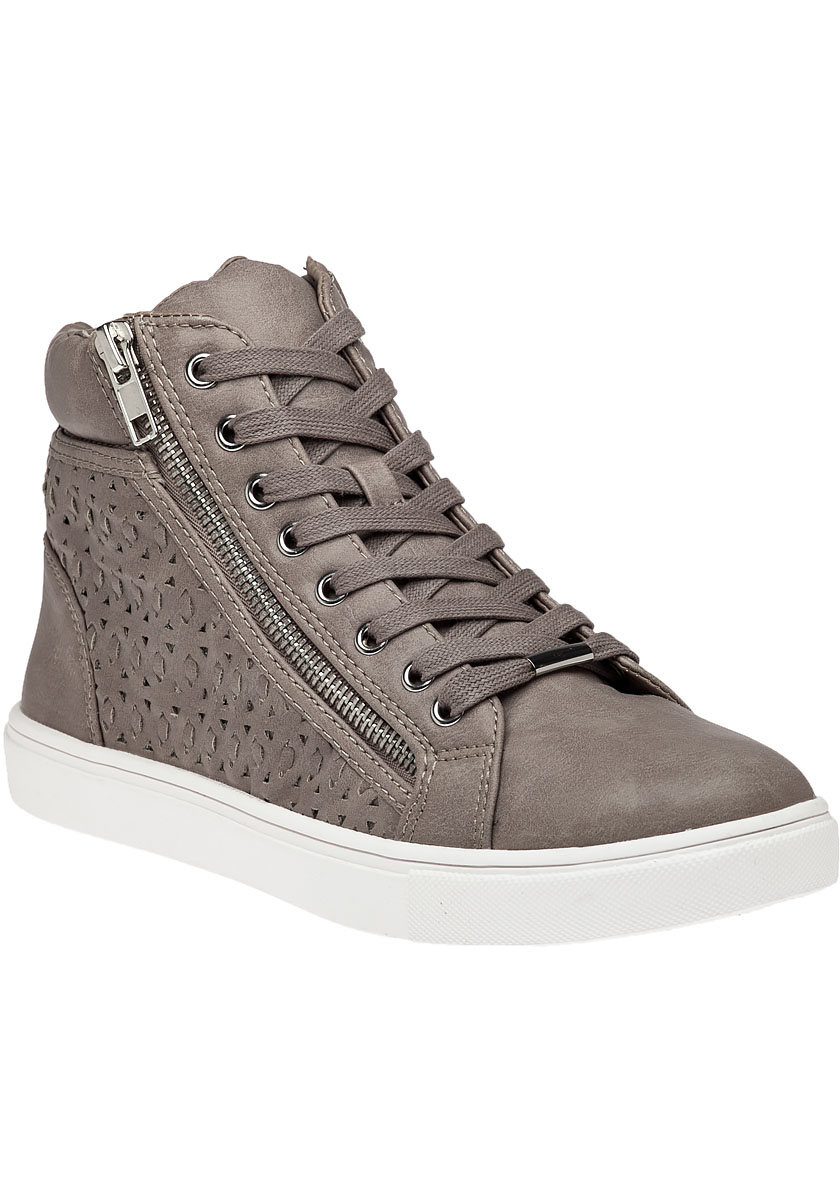 Steve Madden Eiris Grey High Top Sneaker In Gray Lyst