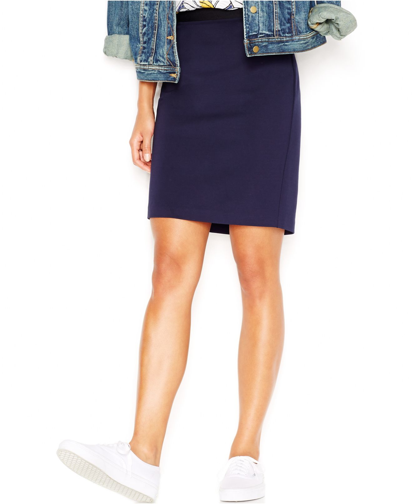 maison jules frankie pencil skirt only at macy s in blue