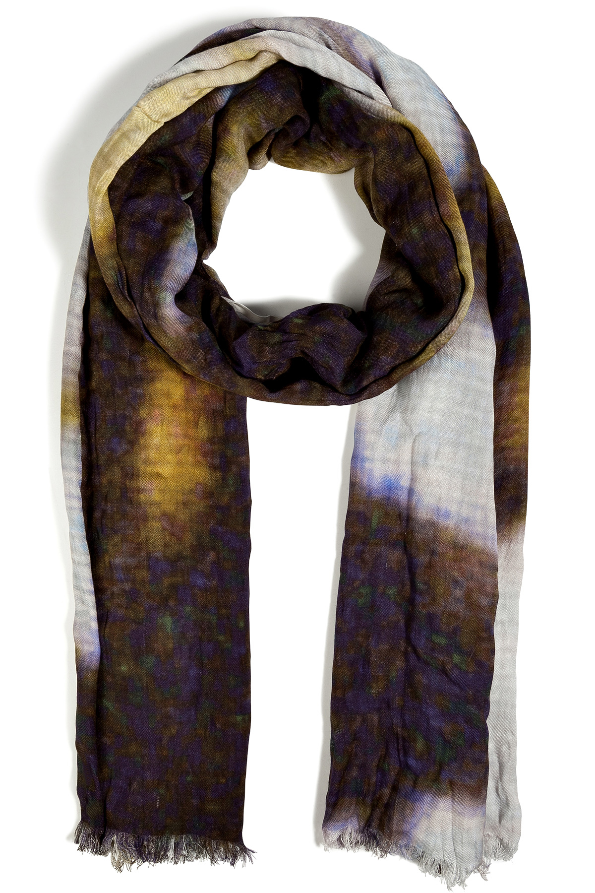 closed tie dye scarf for lyst