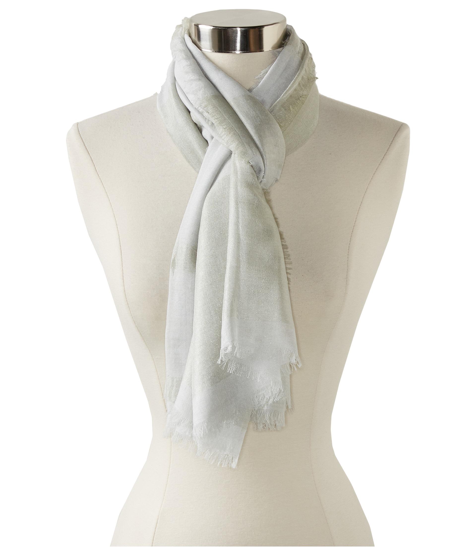 chan luu graduating modalcashmere lurex stripe scarf in